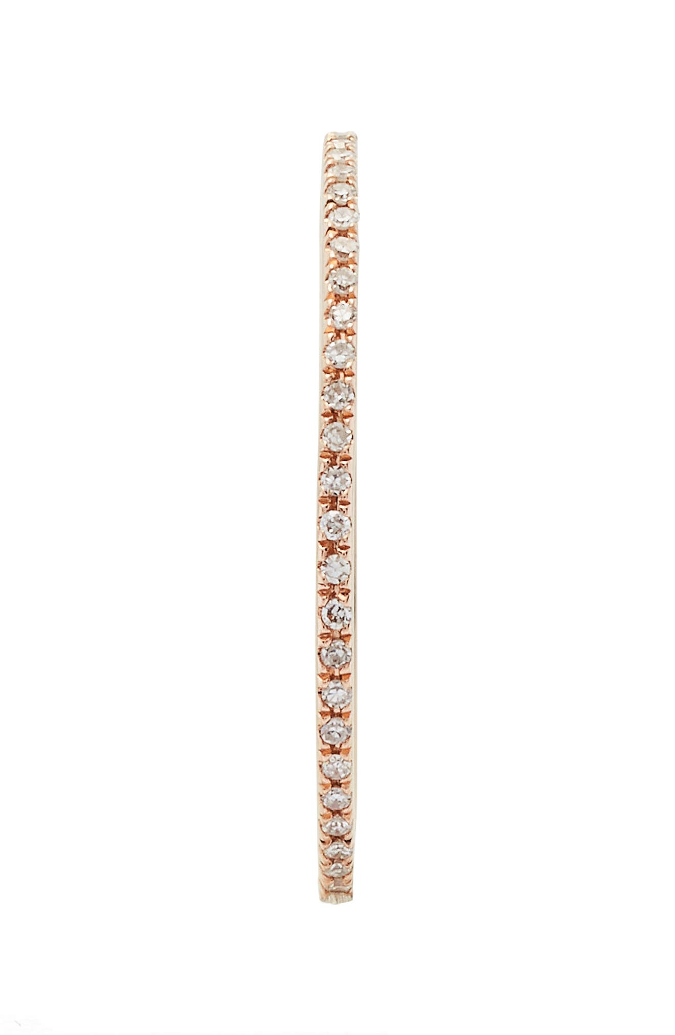 Two-Tone Diamond Stack Ring,                             Alternate thumbnail 3, color,                             Rose Gold
