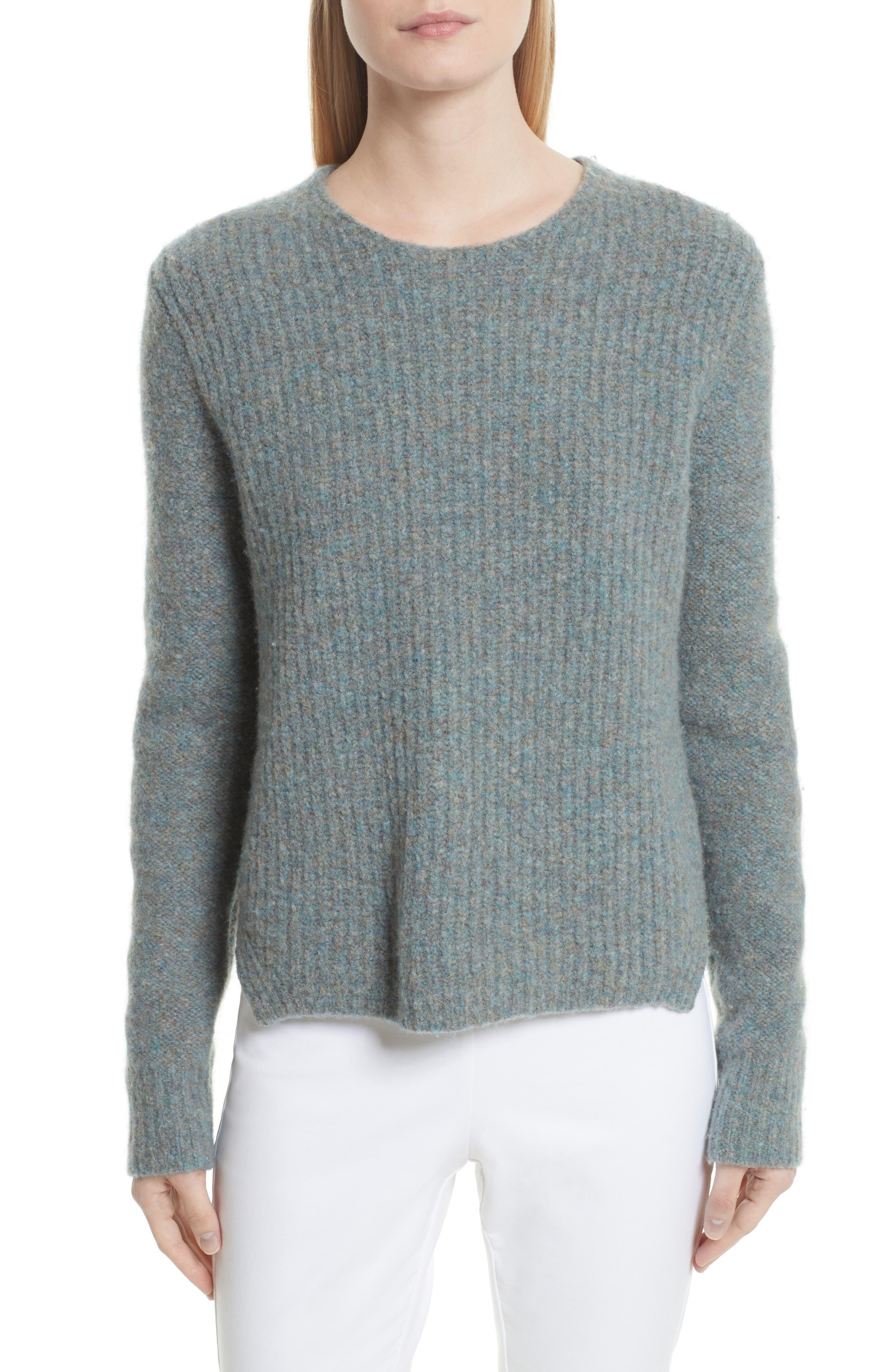 Francie Merino Wool Blend Sweater,                         Main,                         color, Teal