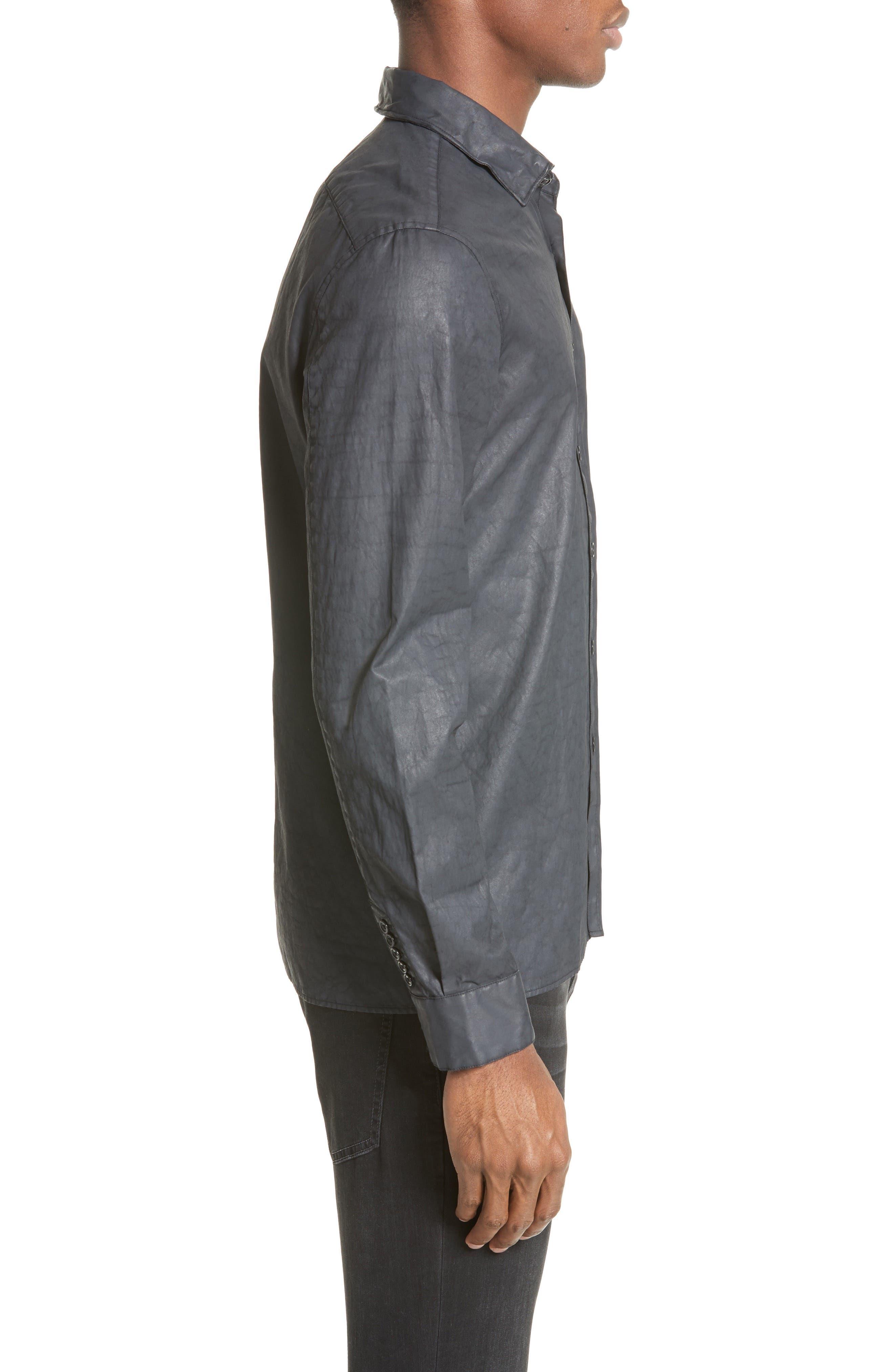 Alternate Image 3  - John Varvatos Collection Double Zip Pocket Coated Shirt