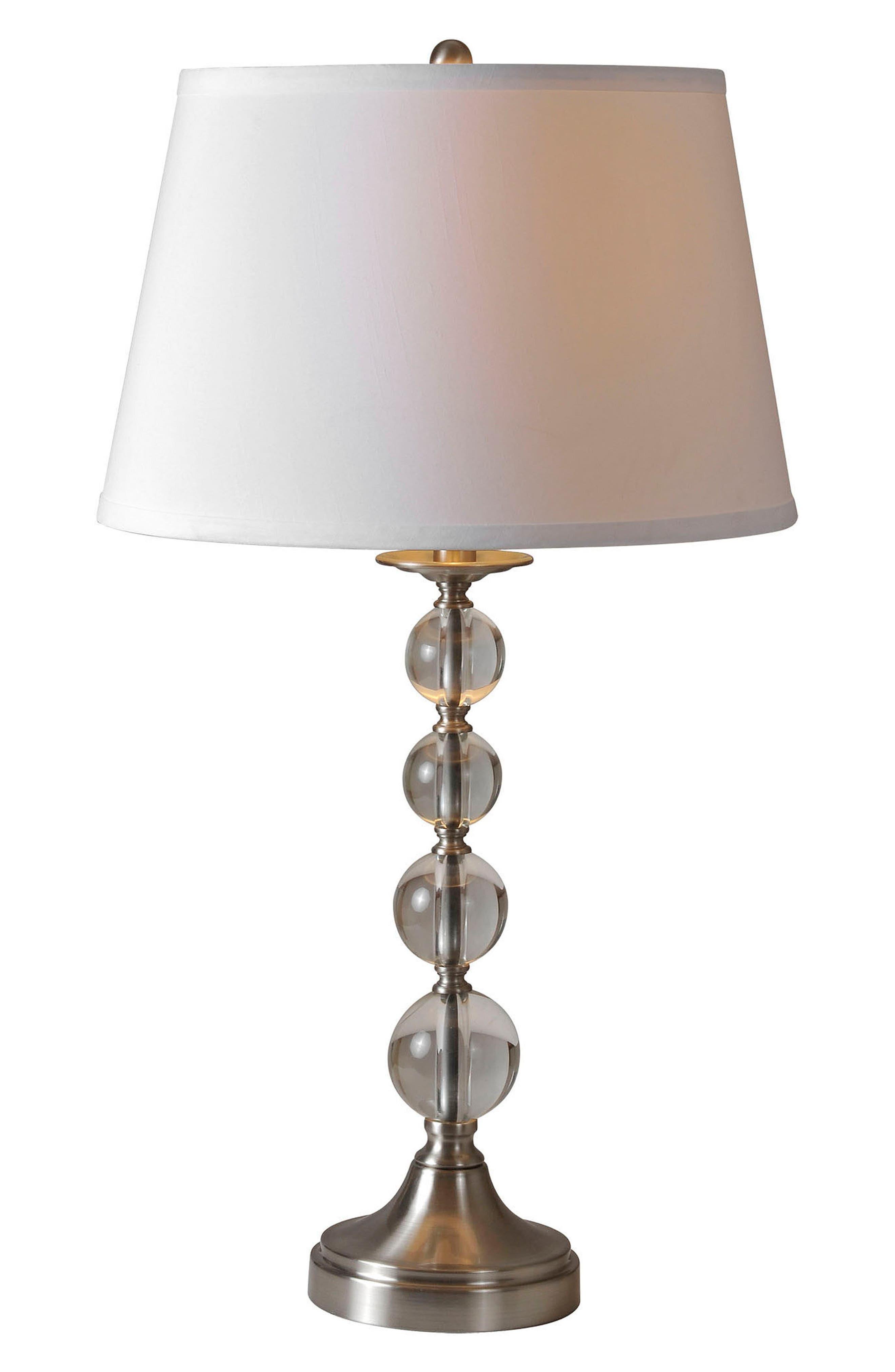 Venezia Set of 2 Table Lamps,                         Main,                         color, Satin Nickel