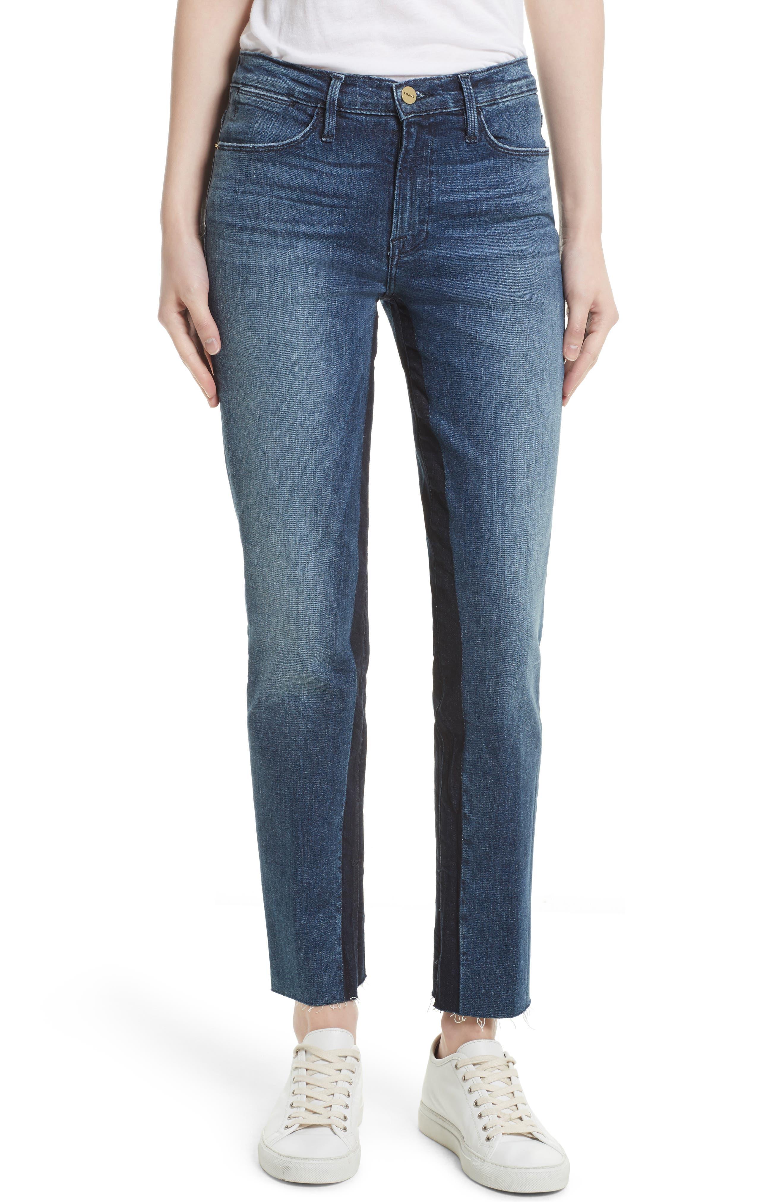 Main Image - FRAME Le High Ankle Straight Leg Jeans (Elaine)