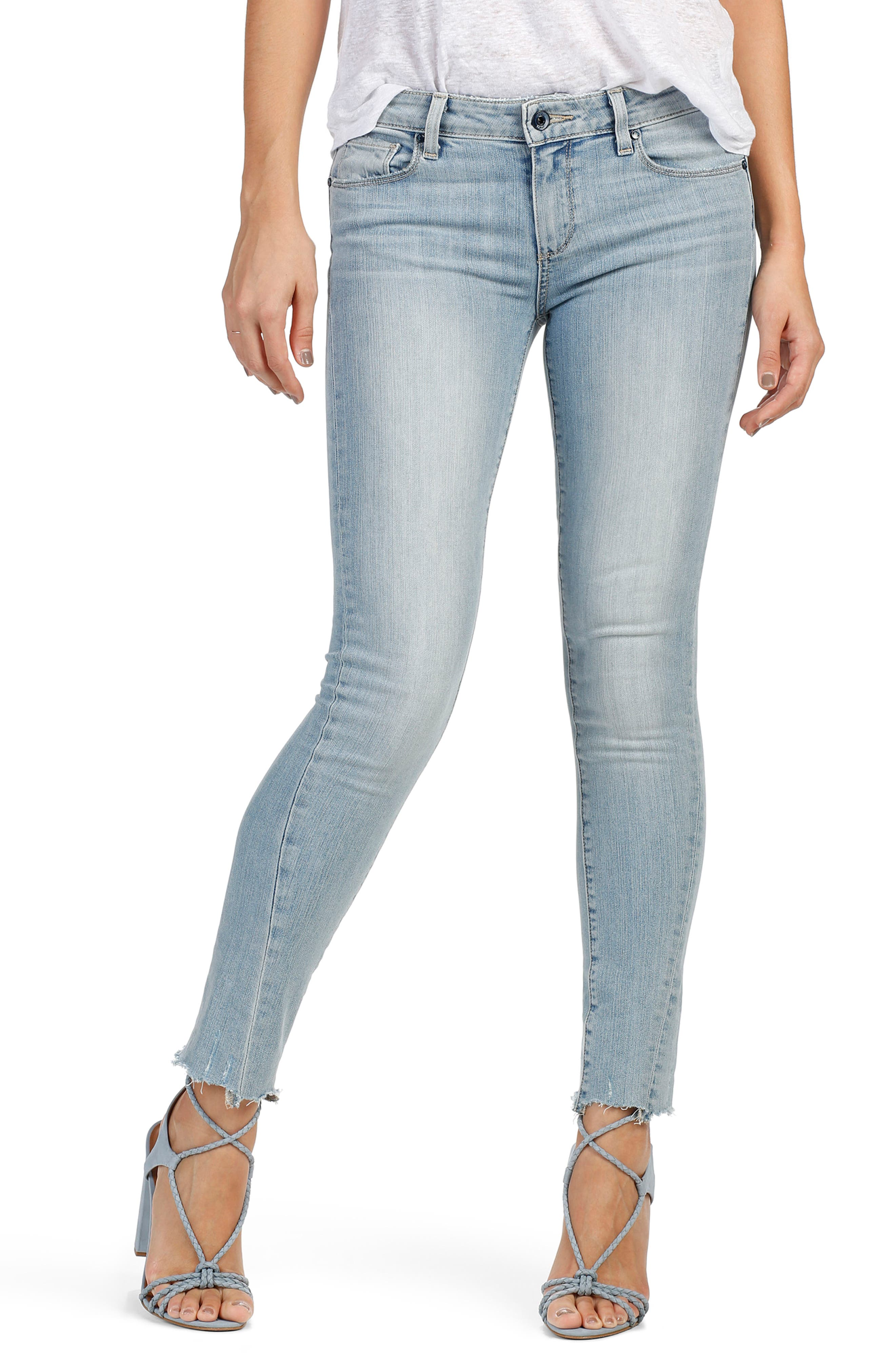 PAIGE Skyline Twisted Seam Ankle Peg Jeans