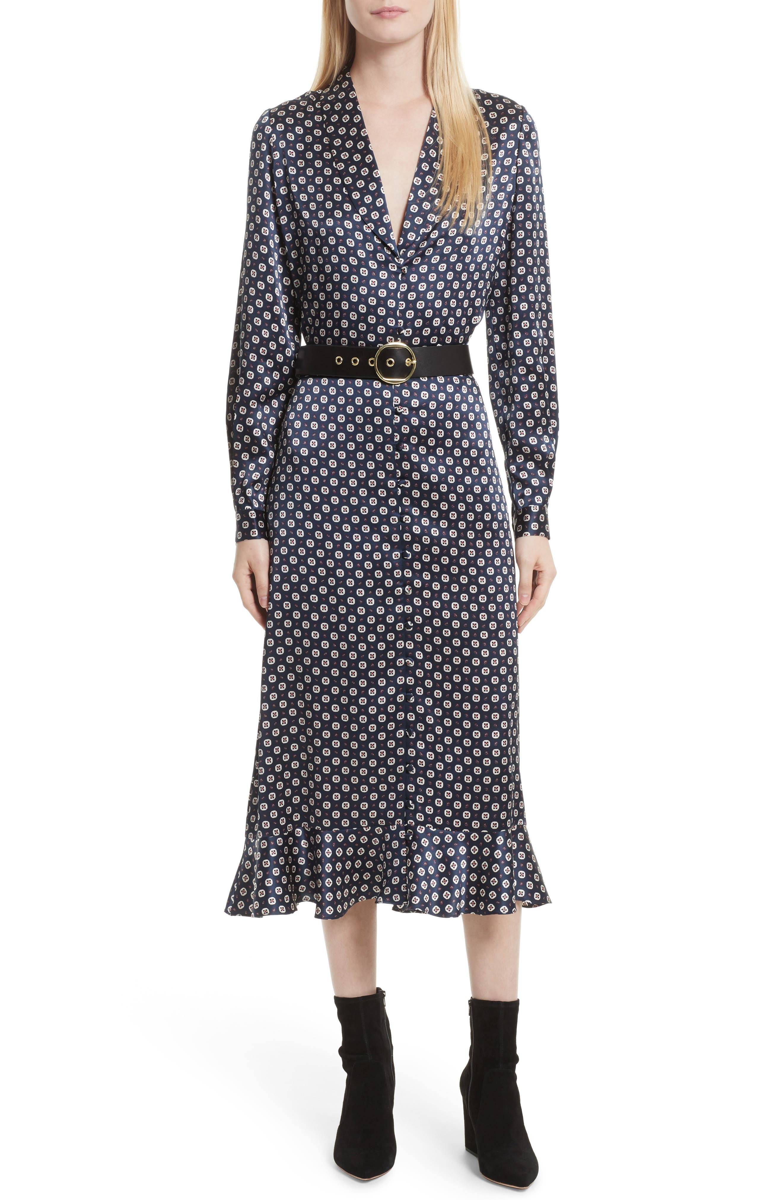 Alternate Image 2  - FRAME Print Silk Midi Skirt