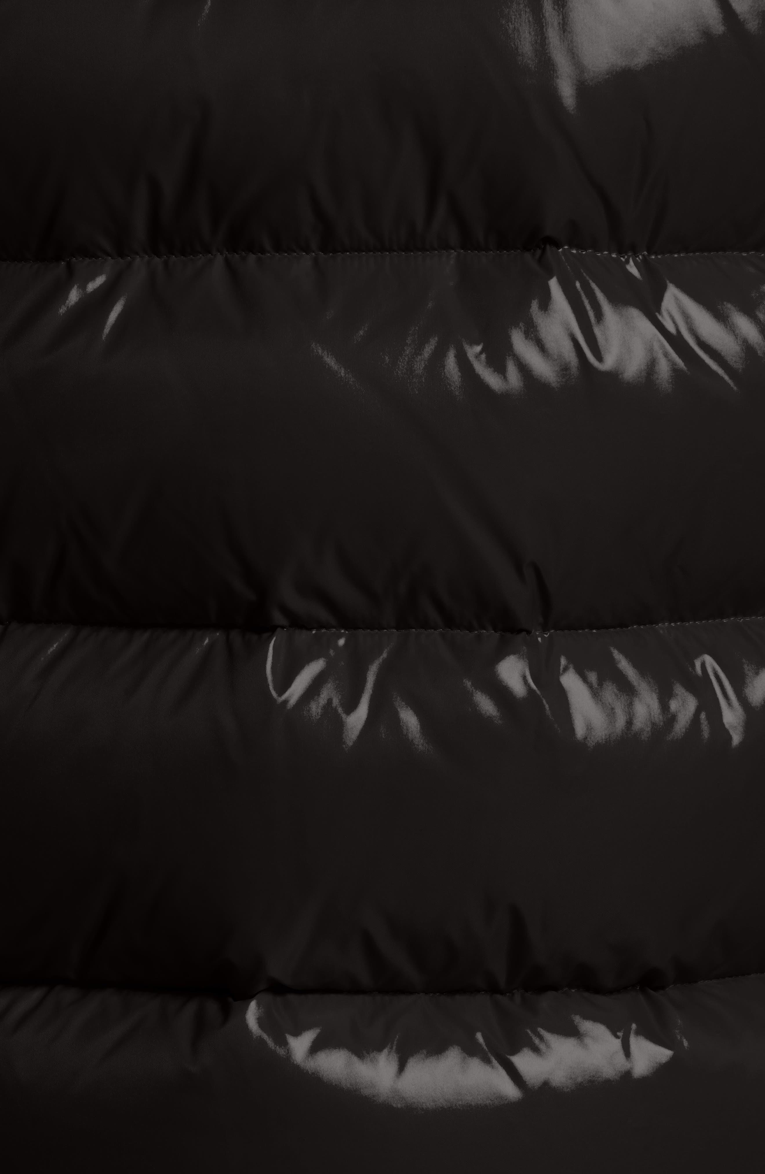 Maya Lacquered Down Jacket,                             Alternate thumbnail 5, color,                             Black