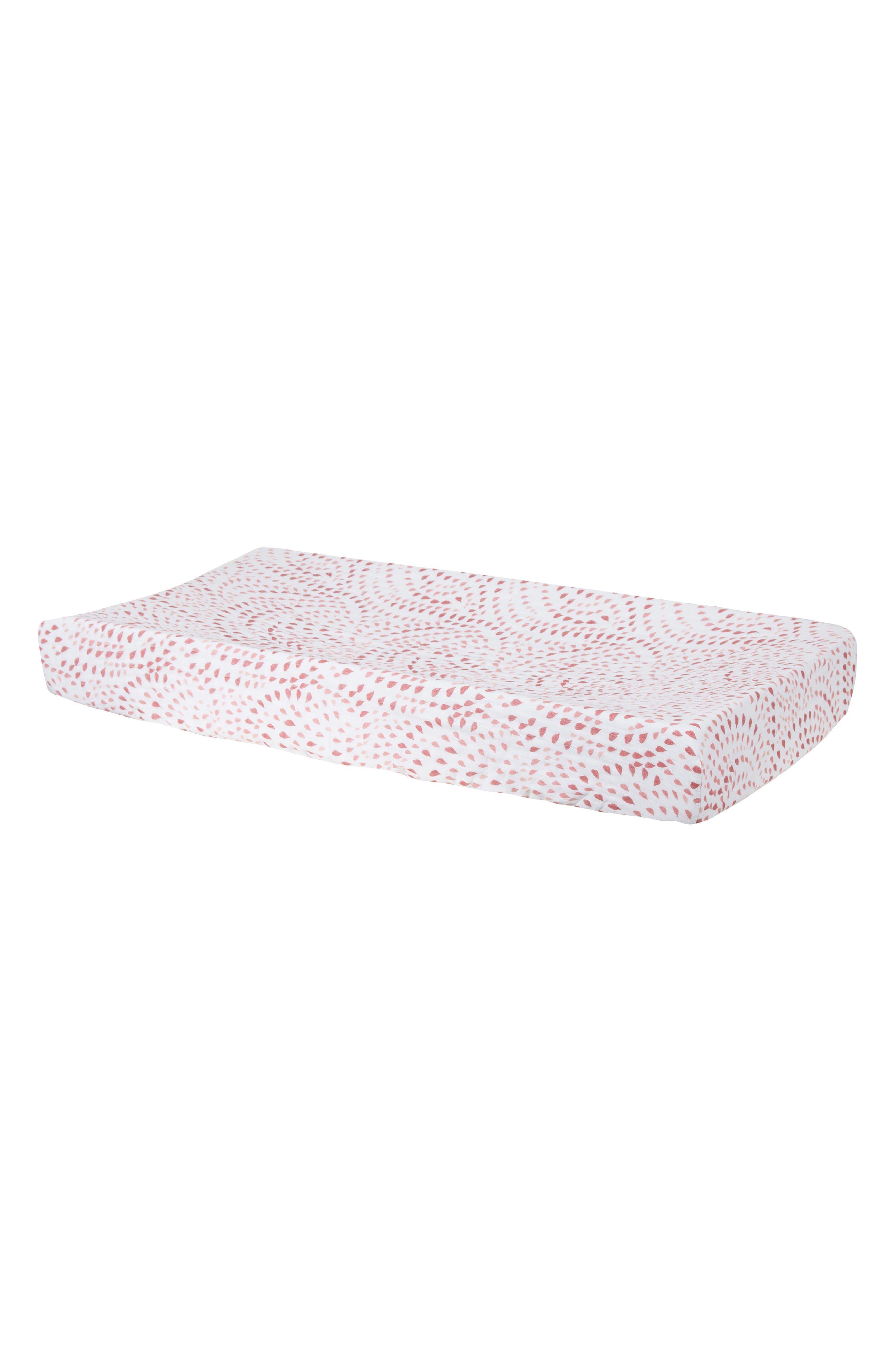 Muslin Crib Sheet,                         Main,                         color, Rose Quartz