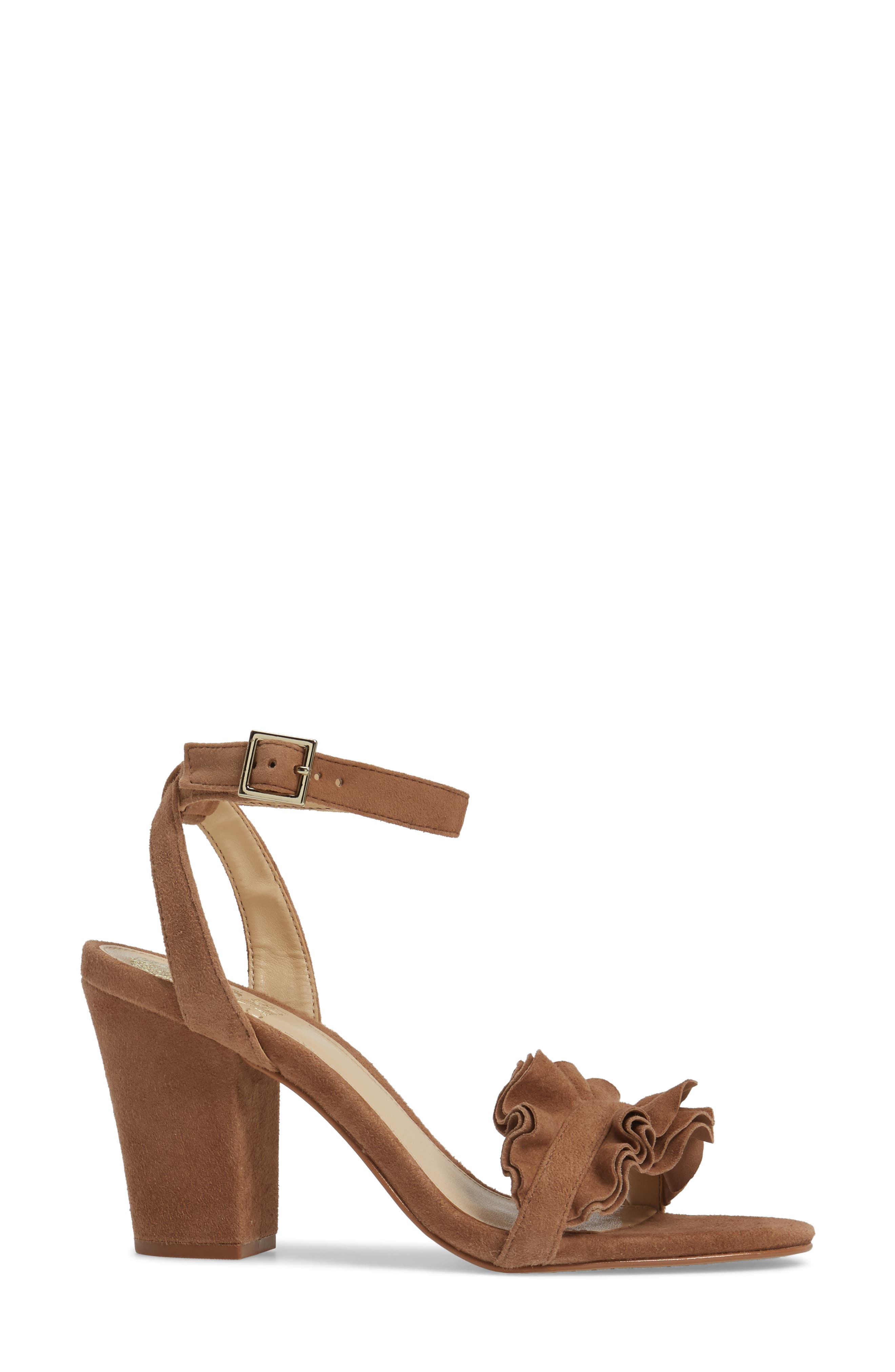 Vinta Sandal,                             Alternate thumbnail 3, color,                             Amendoa Suede