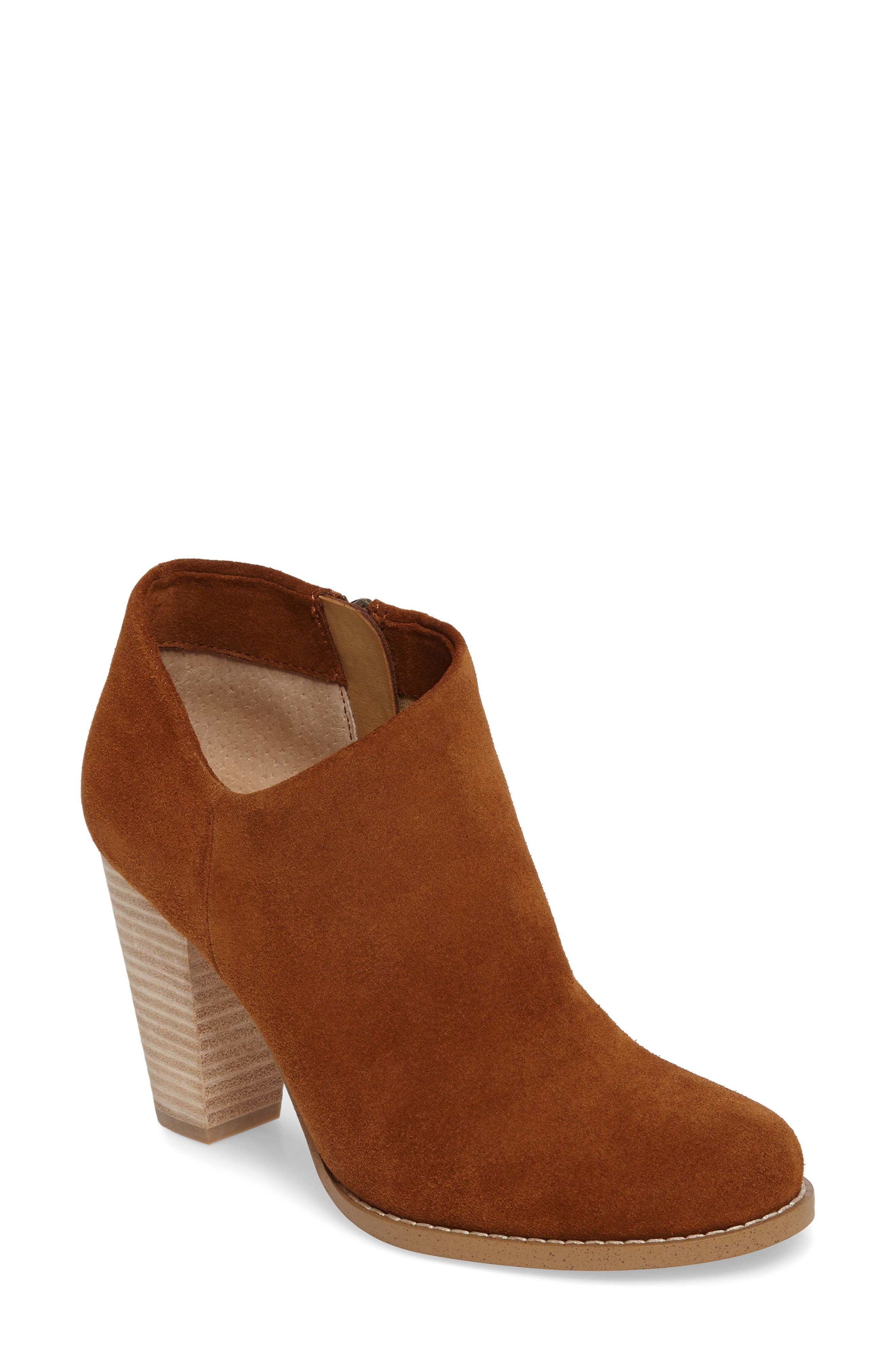 Daphne Bootie,                             Main thumbnail 1, color,                             Whiskey Suede