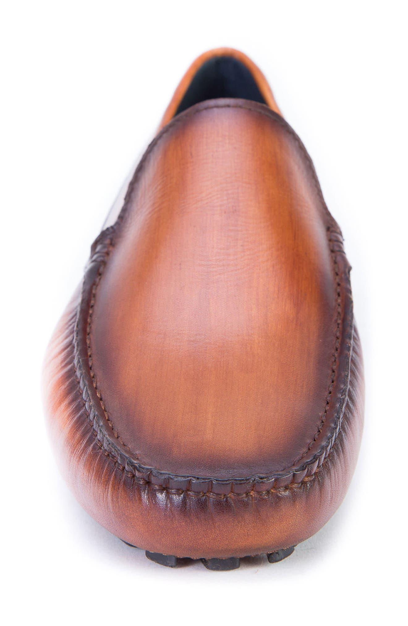 Matisse Driving Moccasin,                             Alternate thumbnail 4, color,                             Cognac Leather
