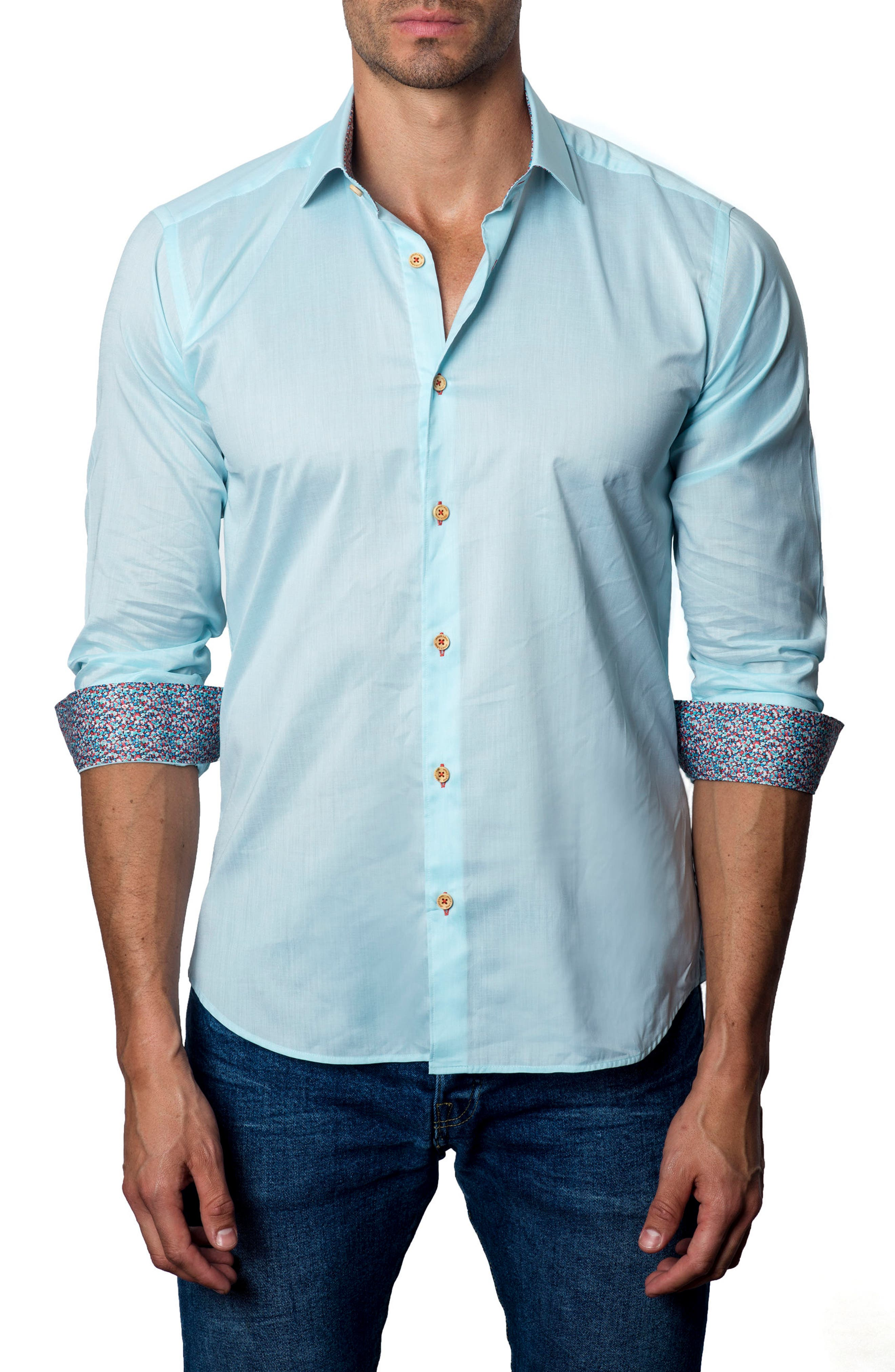 Sport Shirt,                         Main,                         color, Powder Blue
