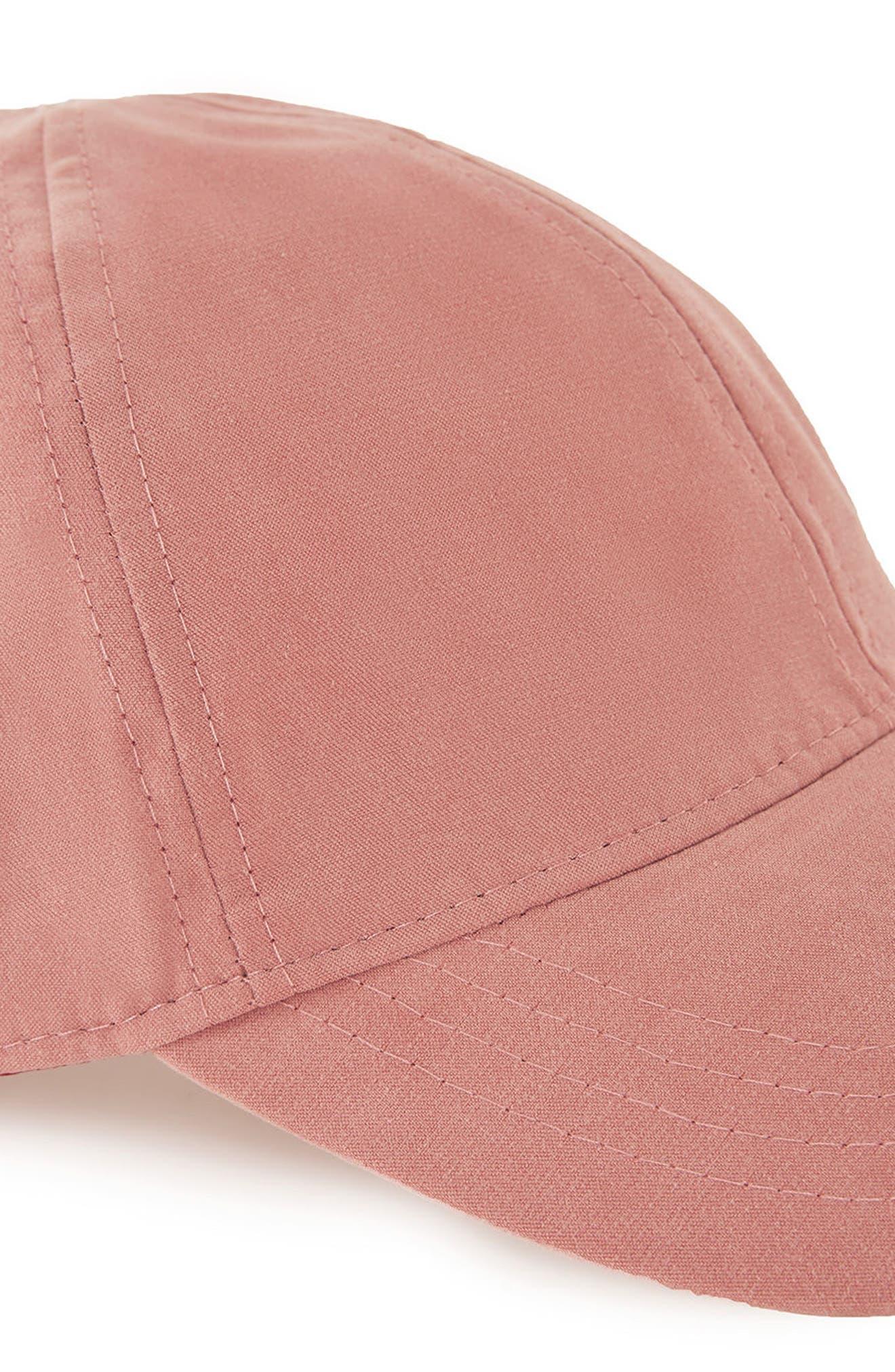 Brushed Ball Cap,                             Alternate thumbnail 3, color,                             Pink
