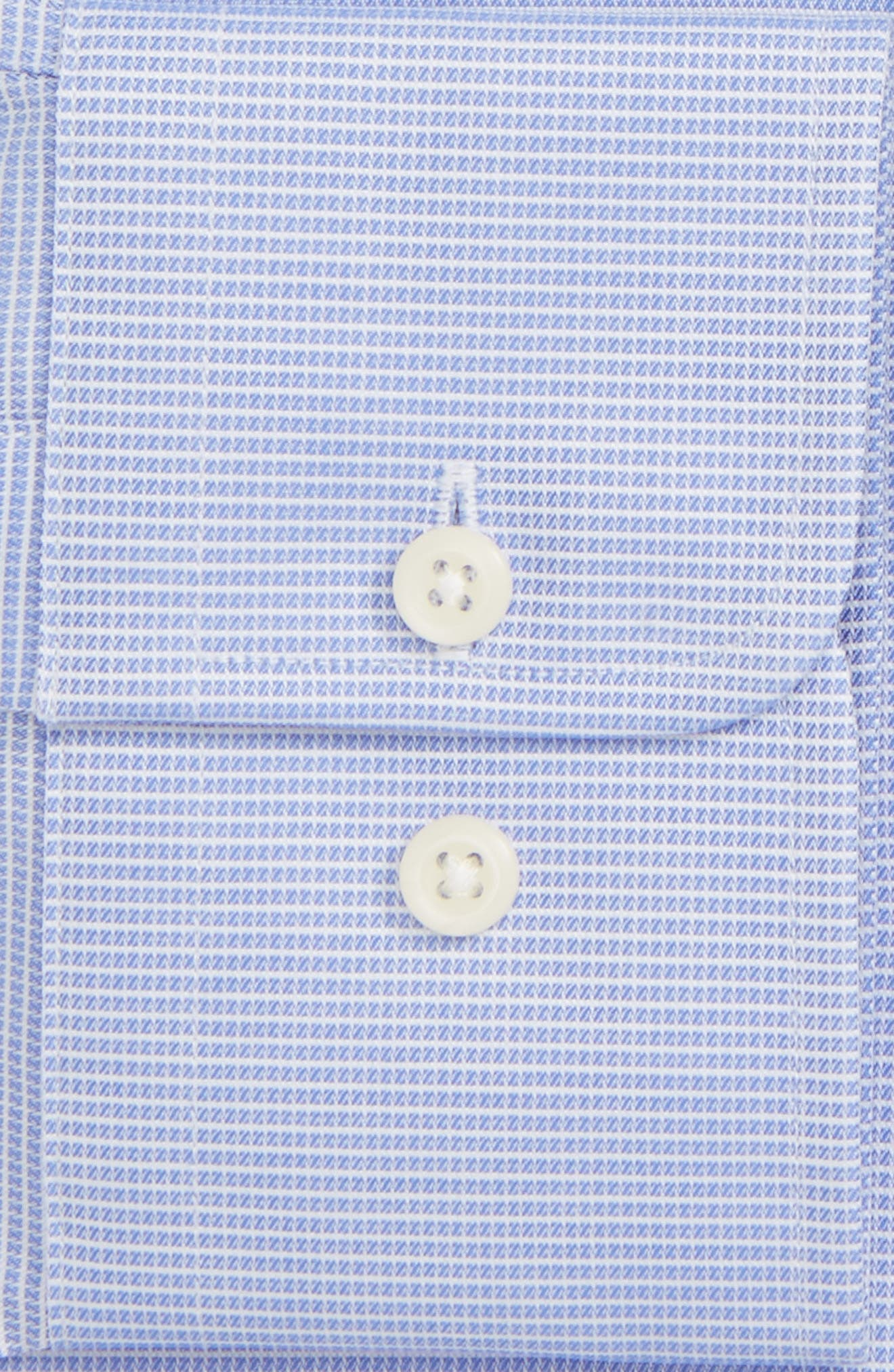 Alternate Image 3  - David Donahue Trim Fit Microcheck Dress Shirt