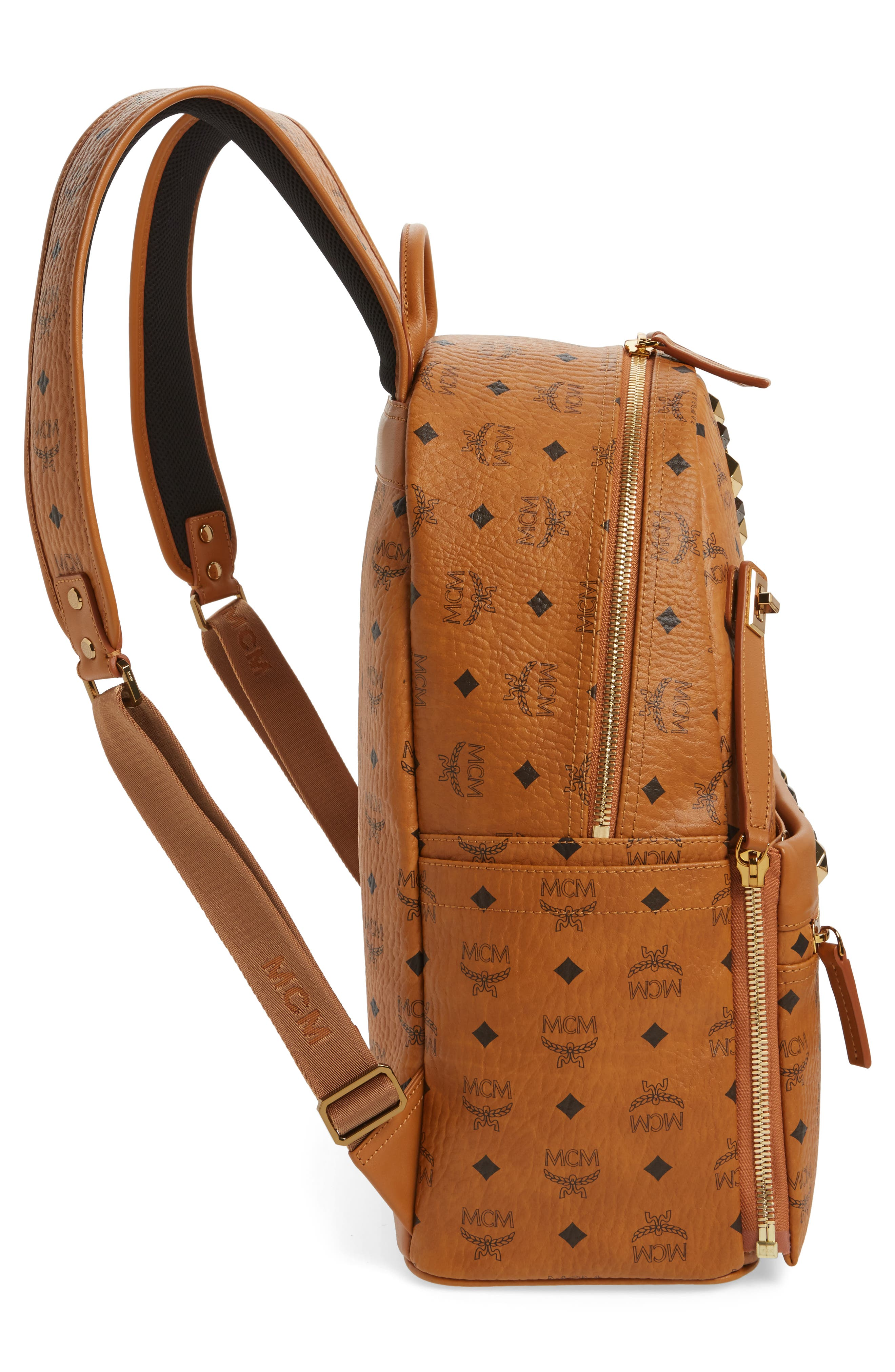 Medium Dual Stark Backpack,                             Alternate thumbnail 5, color,                             Cognac