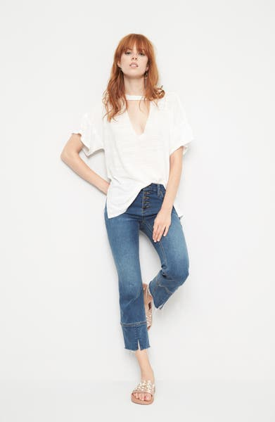 Main Image - Free People Jordan Burnout Tee