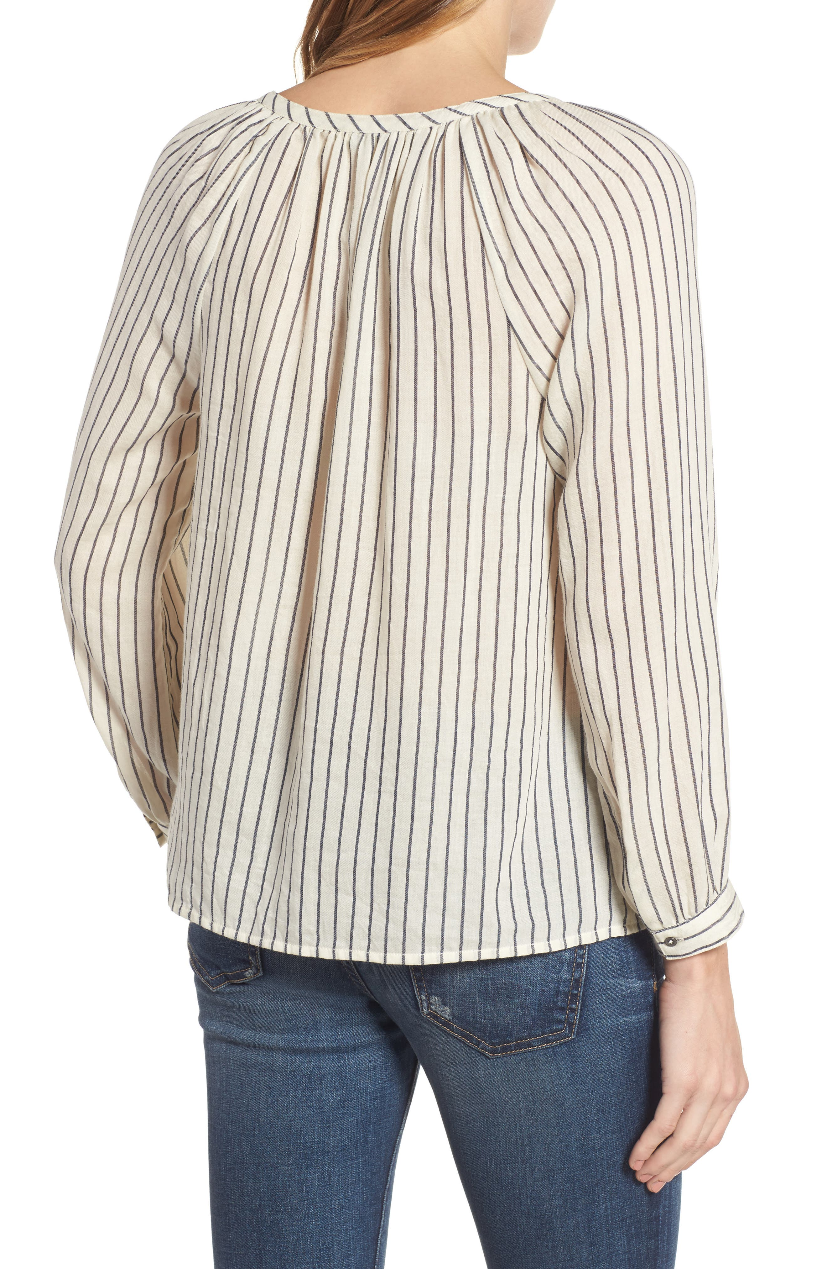 Alternate Image 2  - Lucky Brand Stripe Peasant Blouse