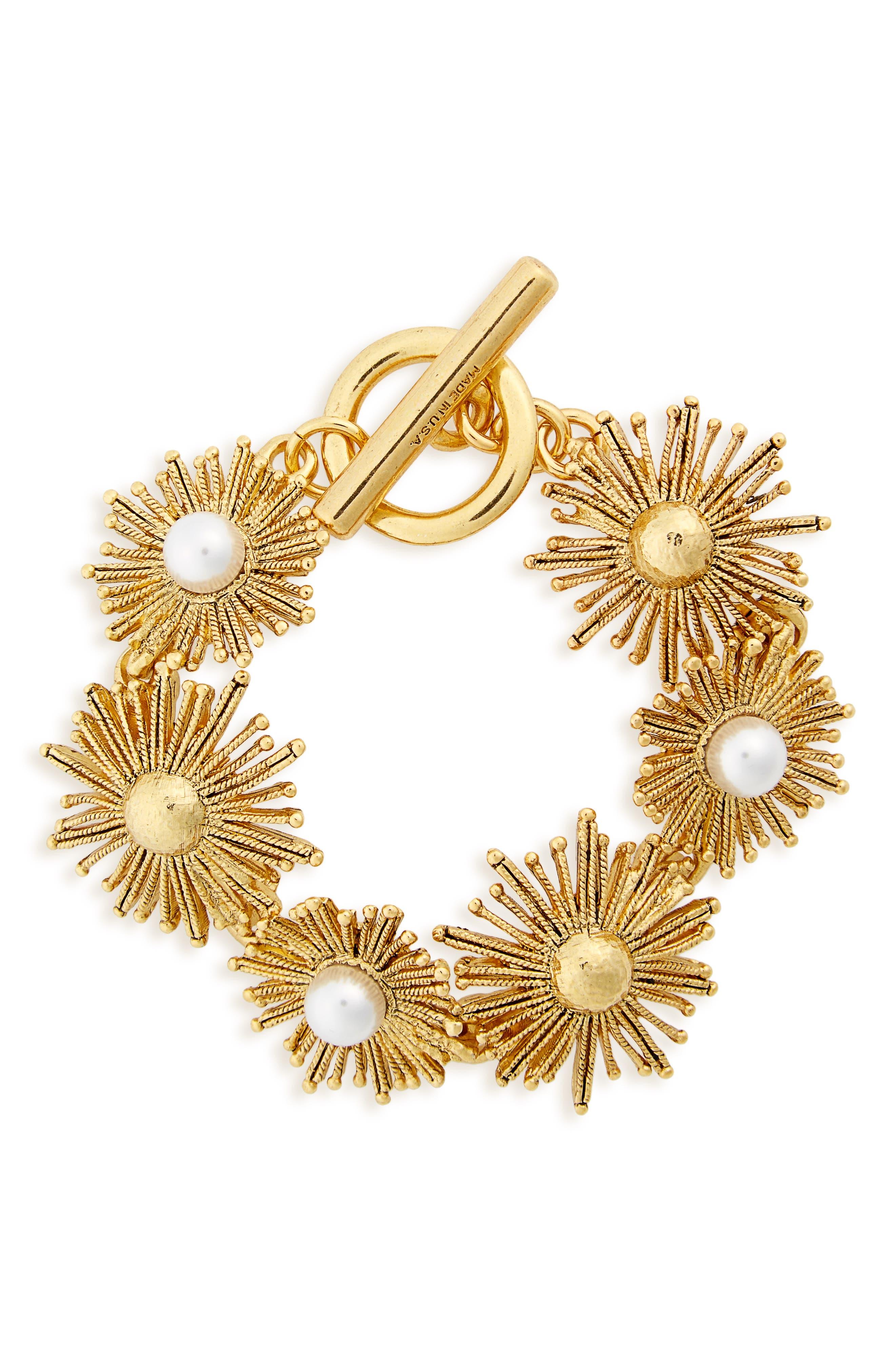 Oscar de la Renta Sun Star Link Bracelet