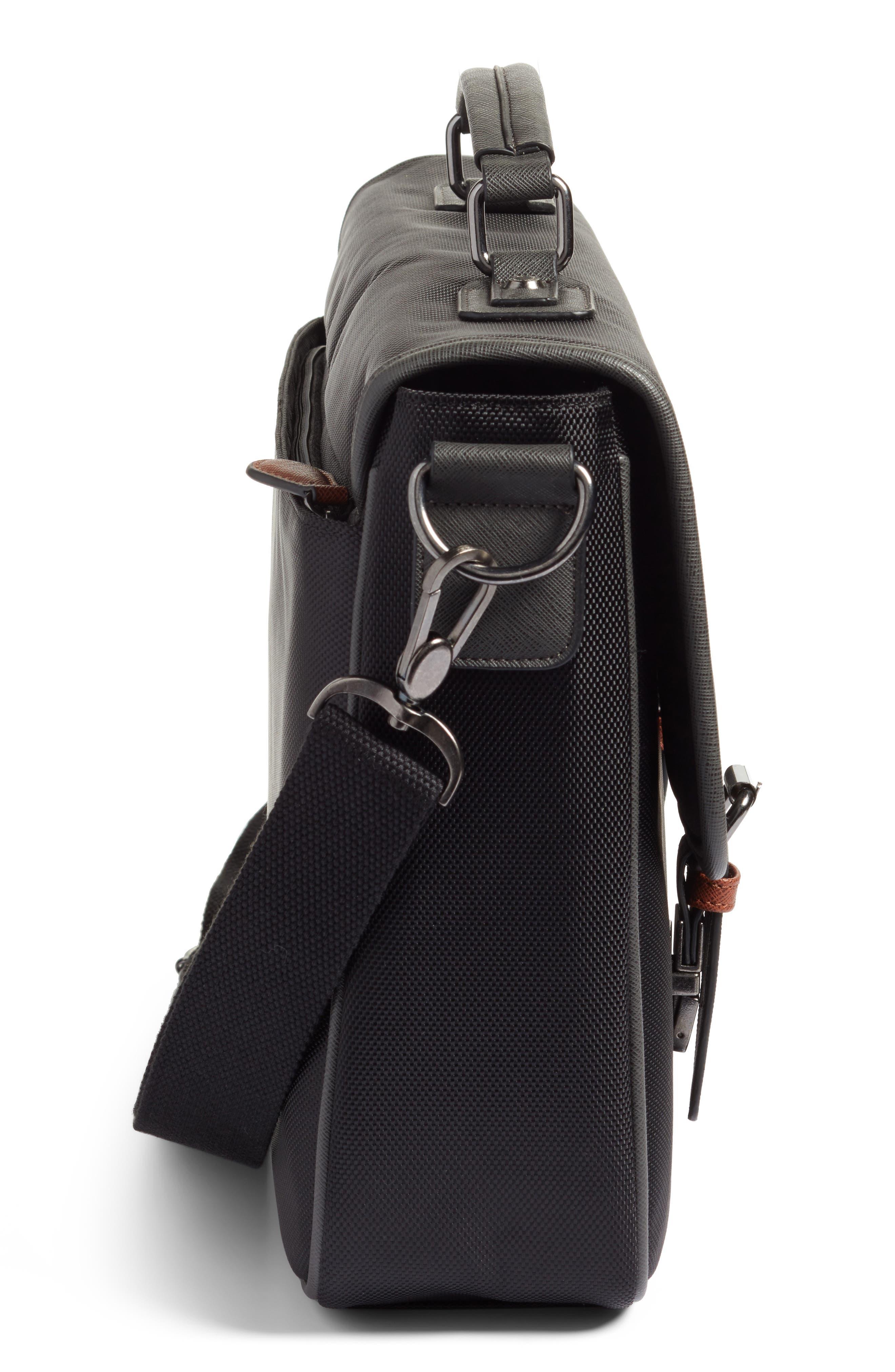 Cattar Messenger Bag,                             Alternate thumbnail 4, color,                             Black