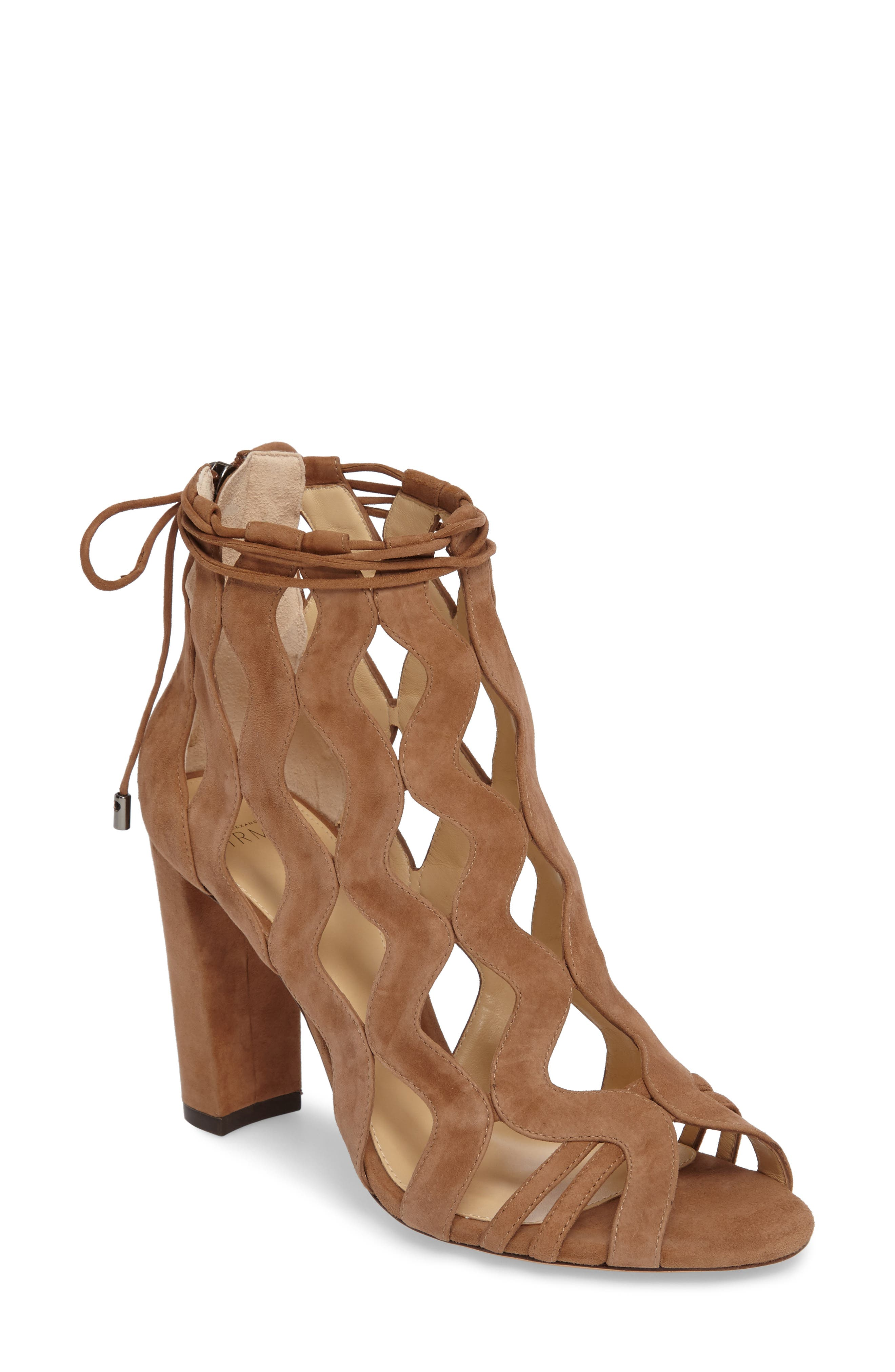 Loretta Cage Bootie,                         Main,                         color, Light Beige