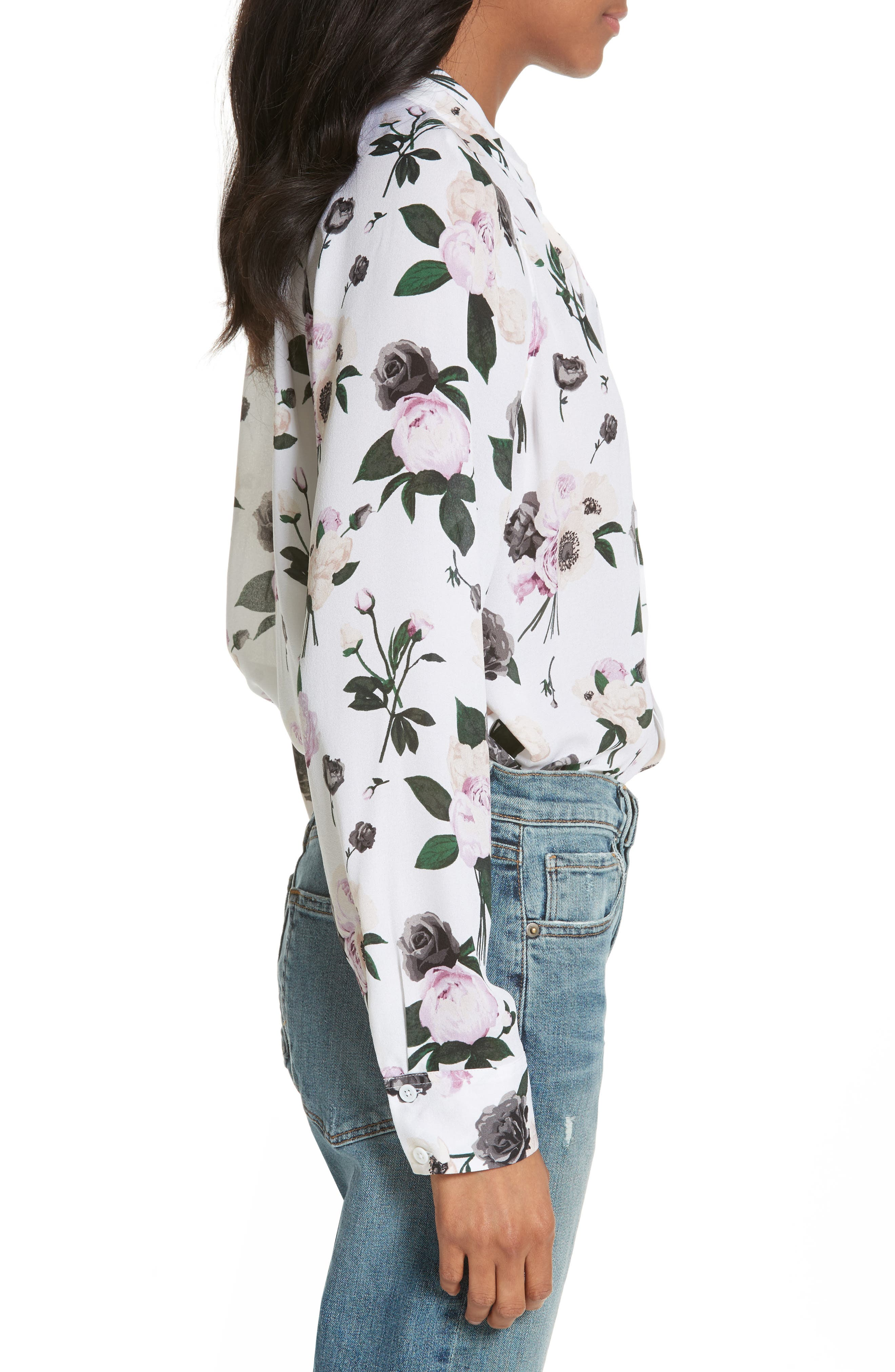 Alternate Image 3  - Equipment Liana Floral Print Silk Blouse