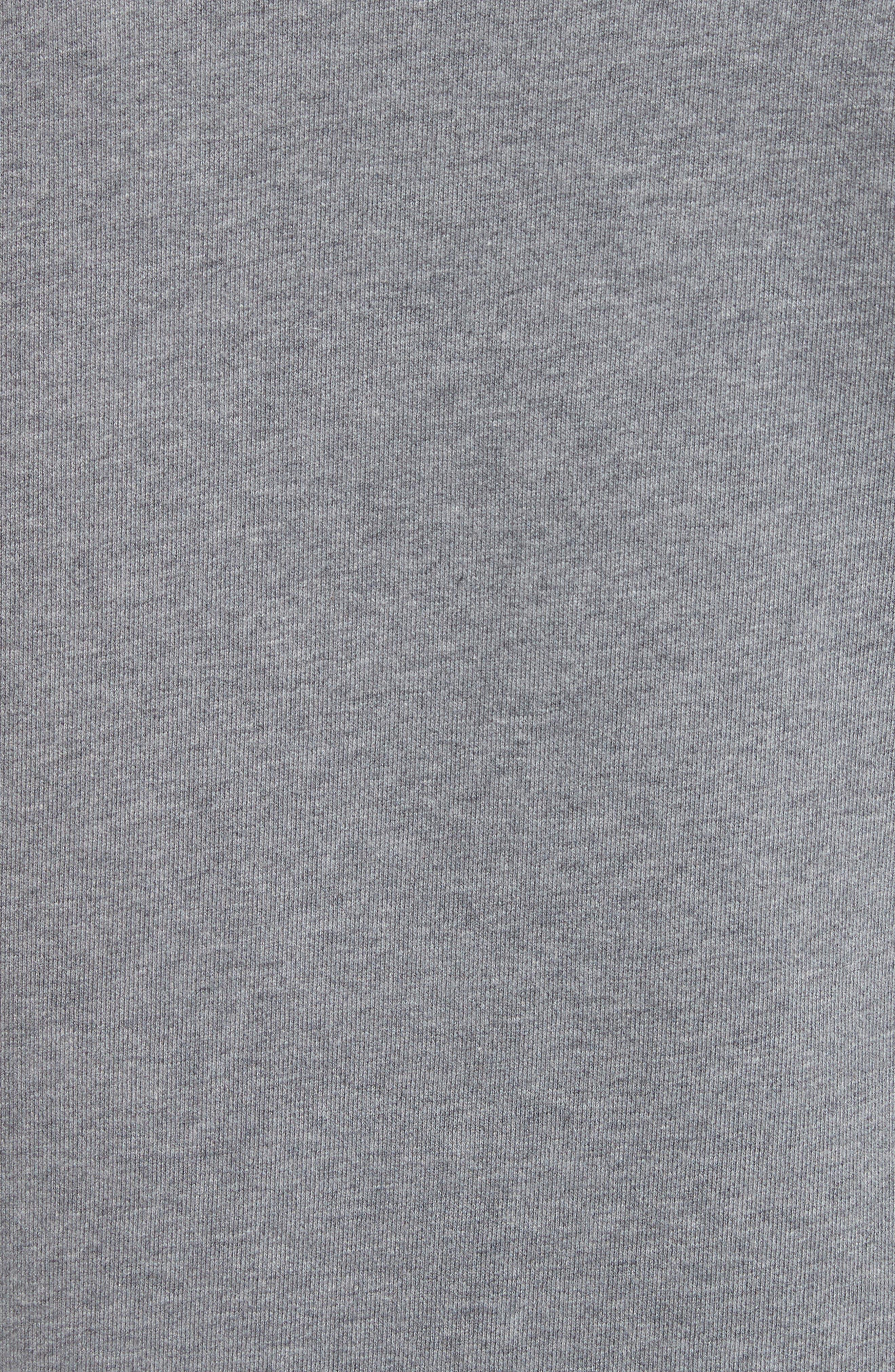 Jefferson Fleece Sweatshirt,                             Alternate thumbnail 5, color,                             Dark Grey Mel