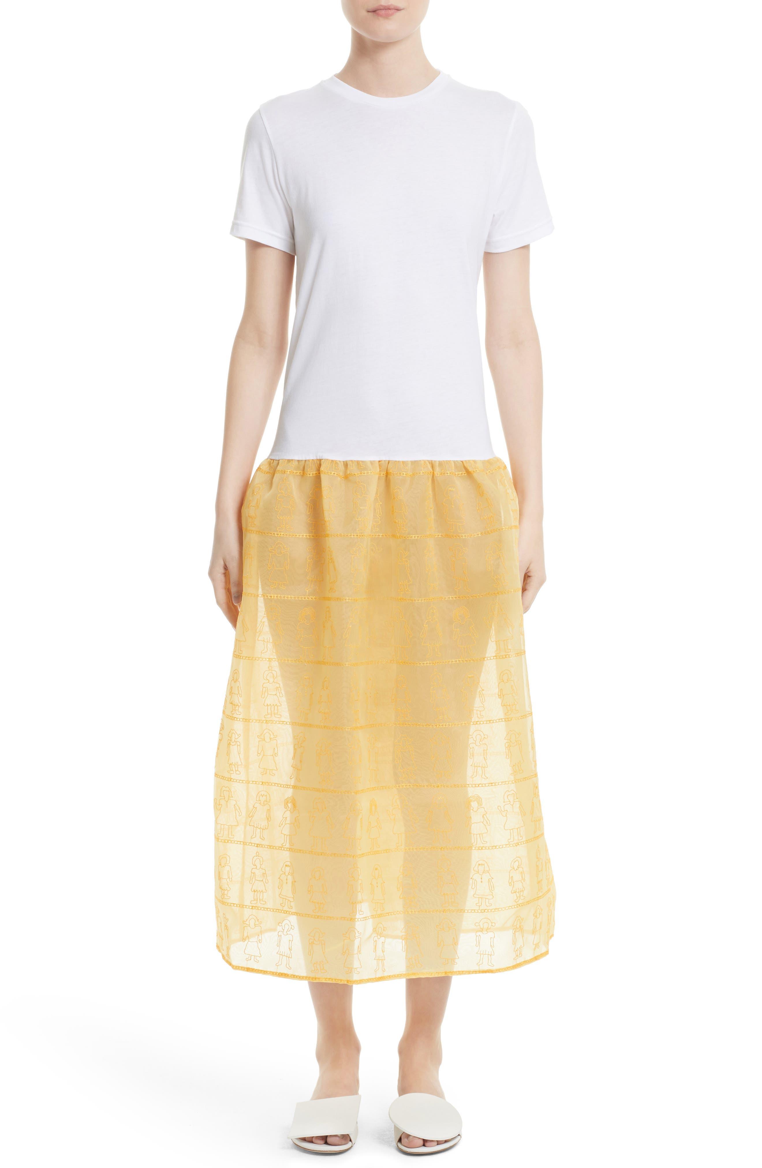 Shrimps Marigold Embroidered Dress (Nordstrom Exclusive)