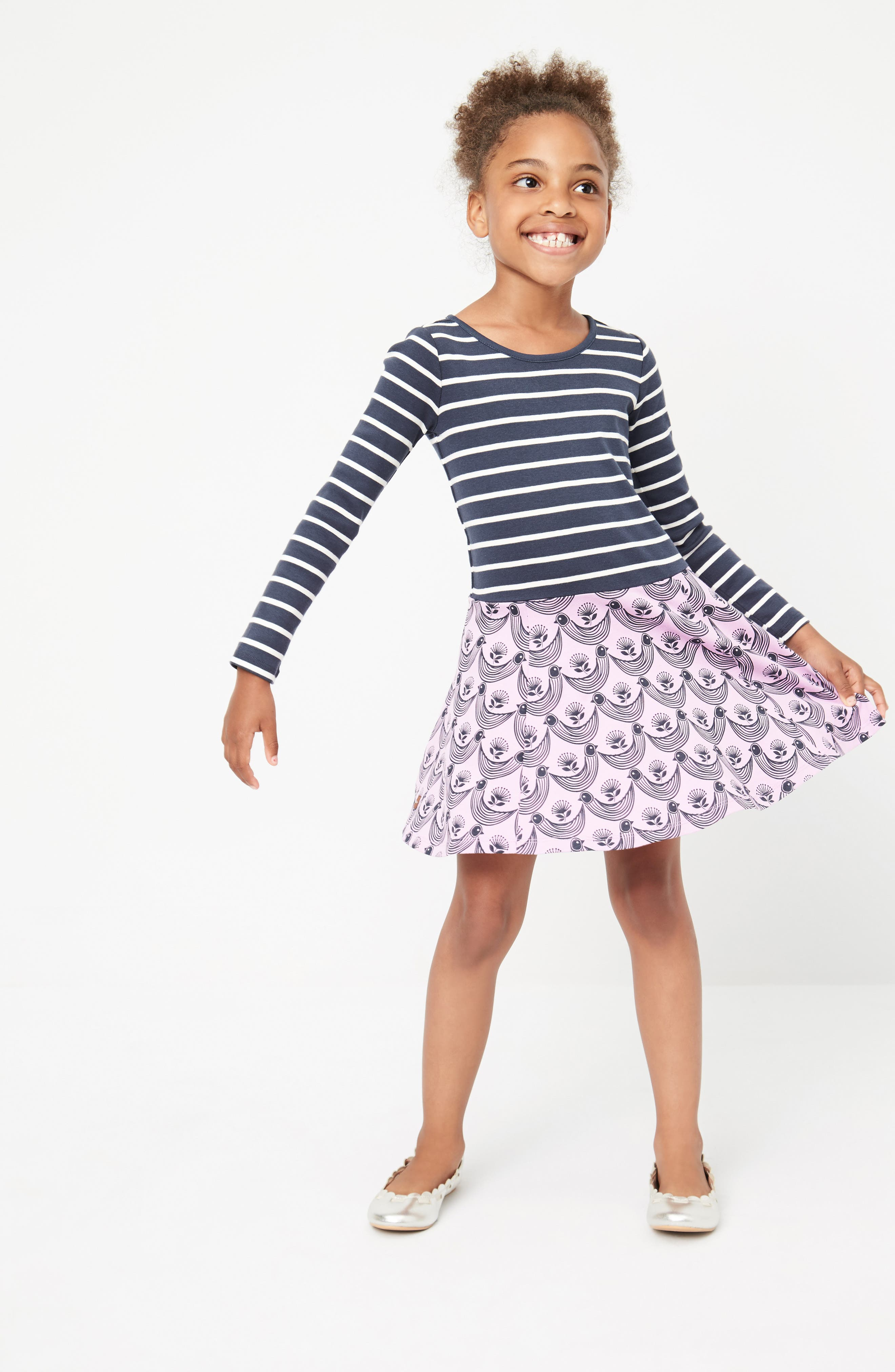 Alternate Image 2  - Tea Collection Mixed Print Dress (Toddler Girls, Little Girls & Big Girls)