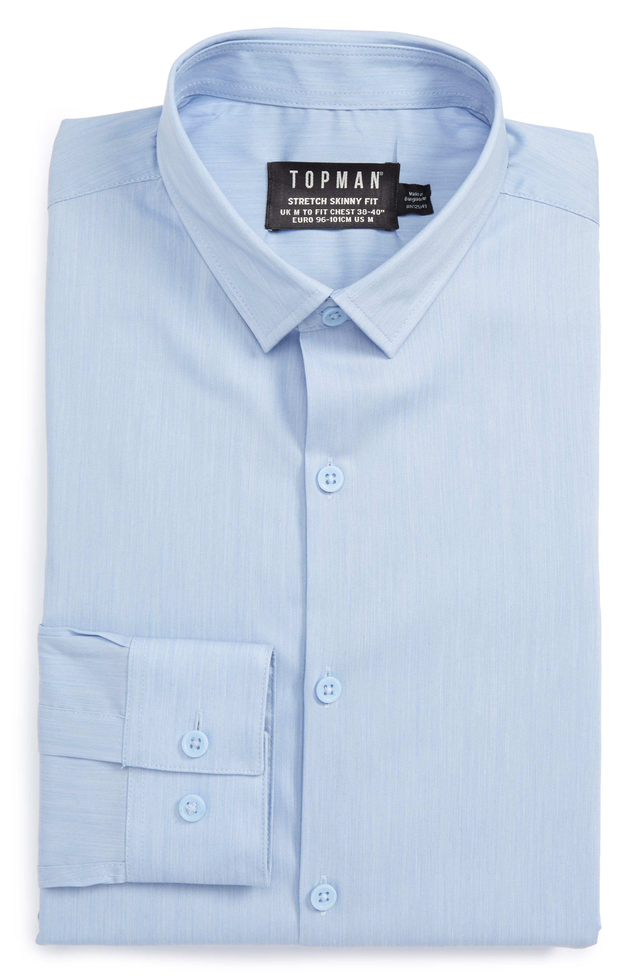 Alternate Image 1 Selected - Topman Muscle Fit Shirt