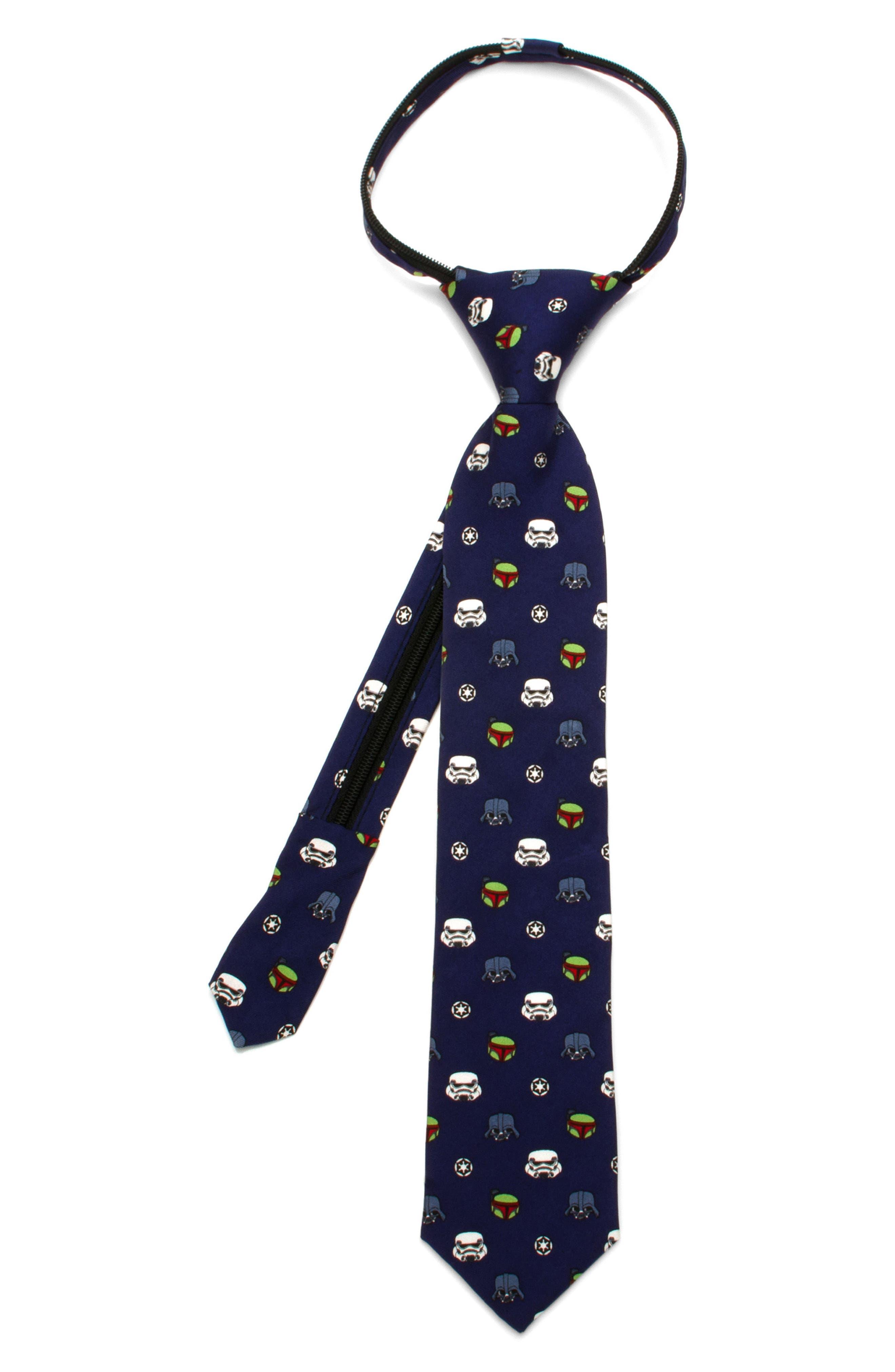 Star Wars - Imperial Villains Zip Silk Tie,                         Main,                         color, Blue