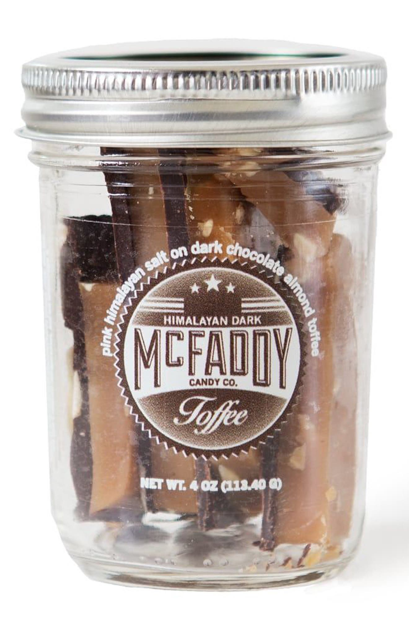 McFaddy Candy Pink Himalayan Salt Dark Chocolate Almond Toffee