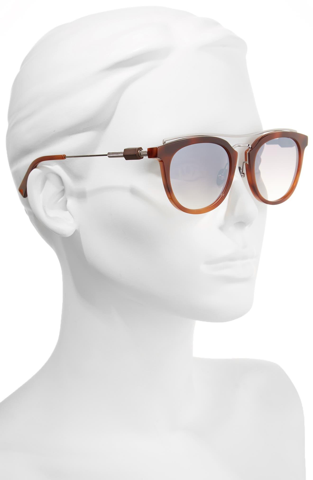 Zeal 52mm Aviator Sunglasses,                             Alternate thumbnail 2, color,                             Amber