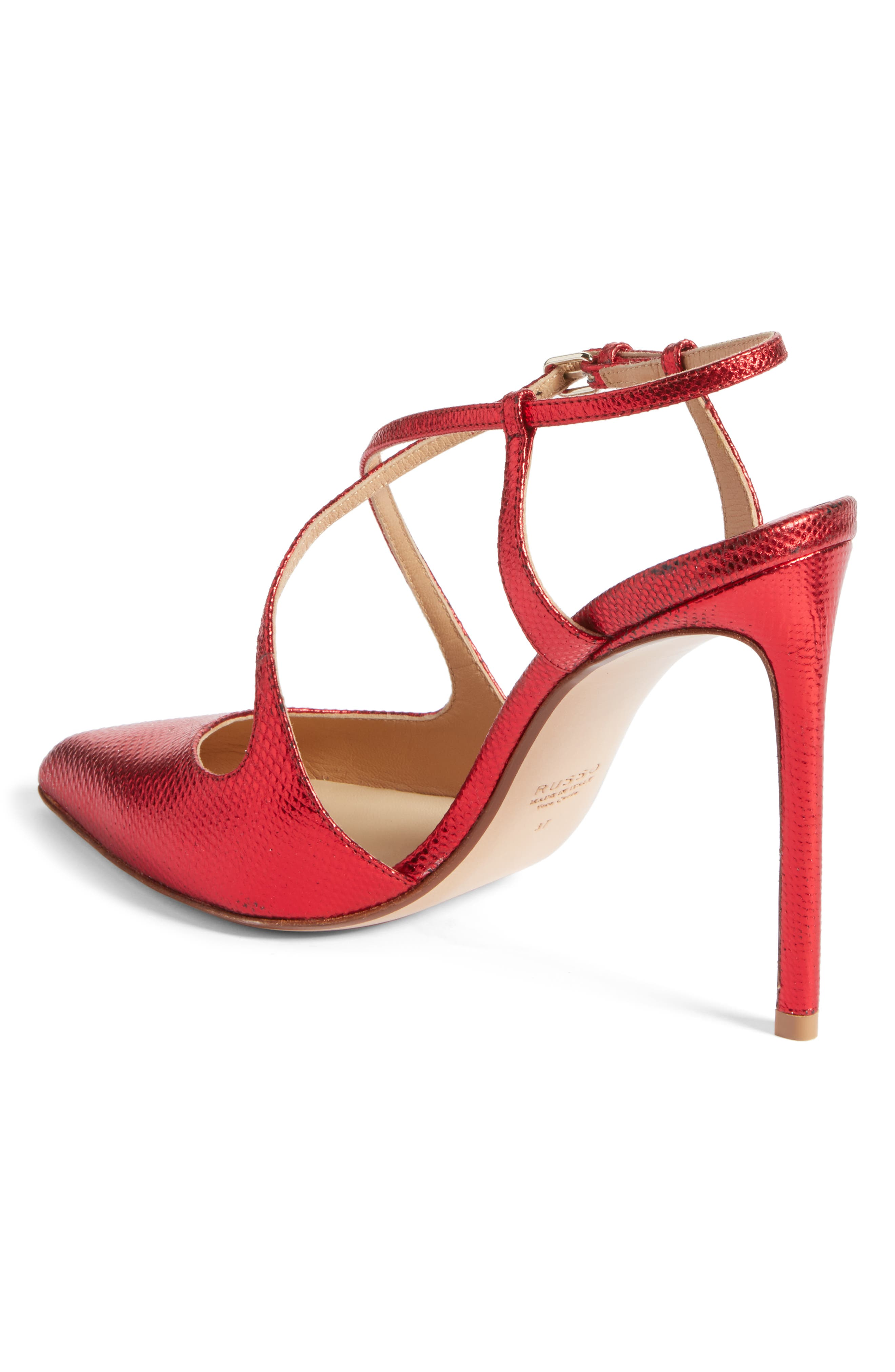 Alternate Image 2  - Francesco Russo Criss Cross Genuine Snakeskin Pump (Women)