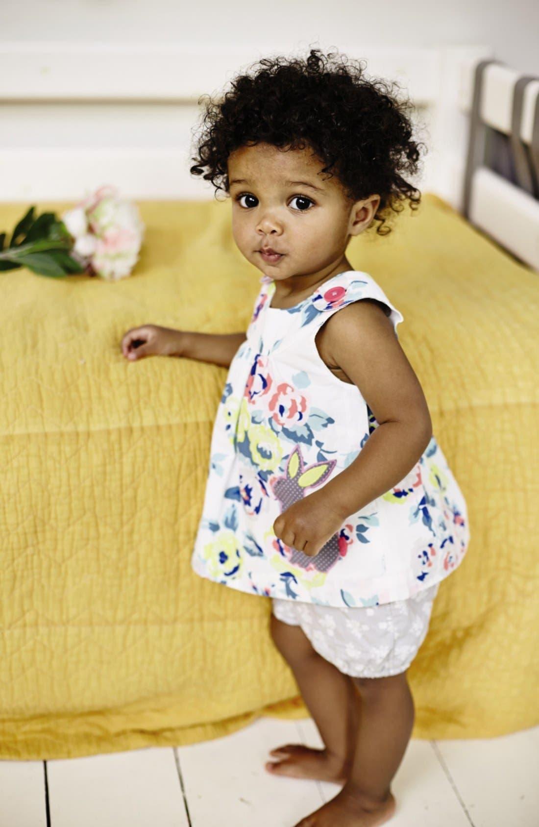 Alternate Image 2  - Mini Boden Appliqué Tunic & Bubble Shorts (Baby Girls)