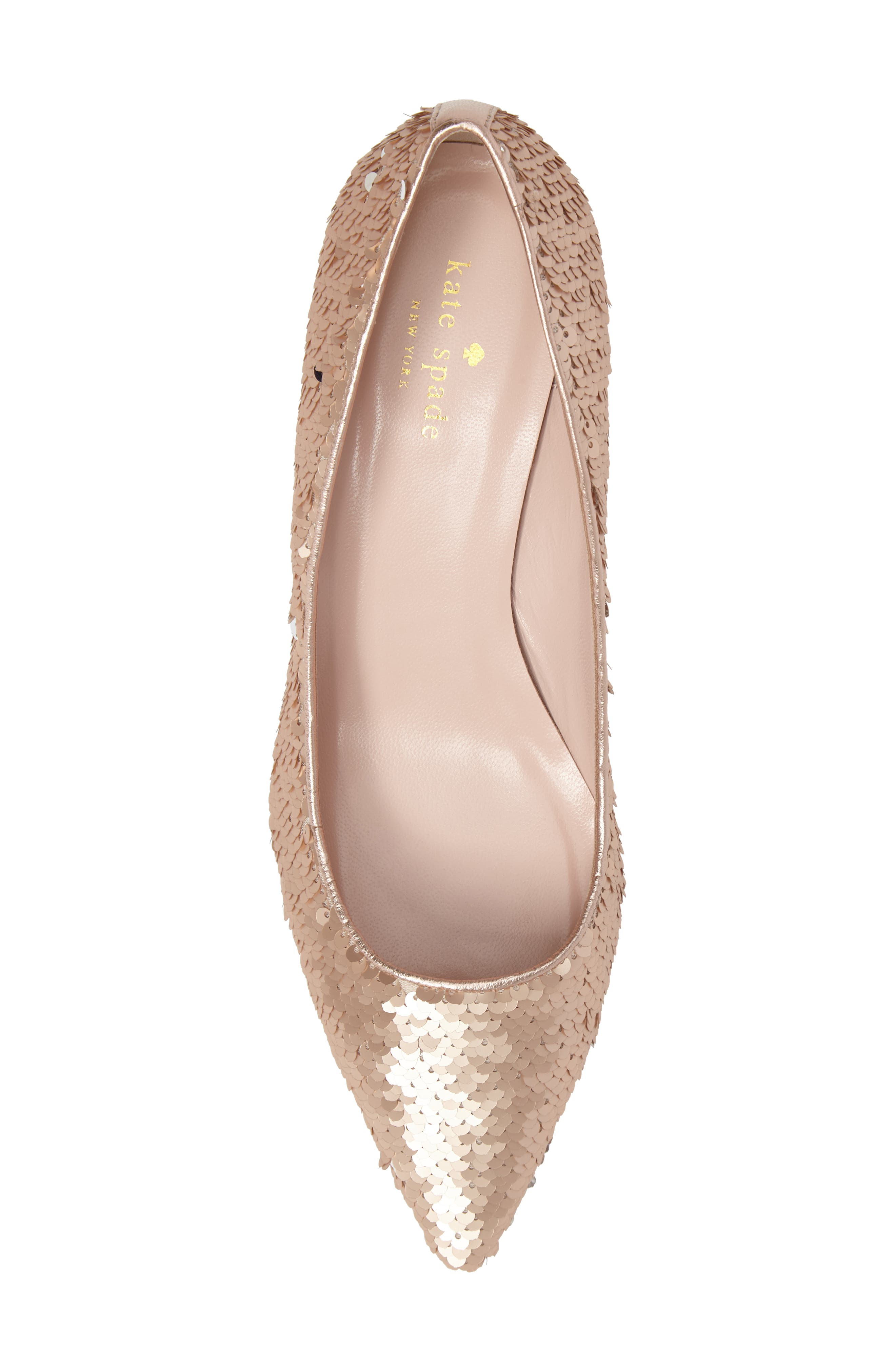 mauna sequin pump,                             Alternate thumbnail 6, color,                             Rose Gold/ Silver