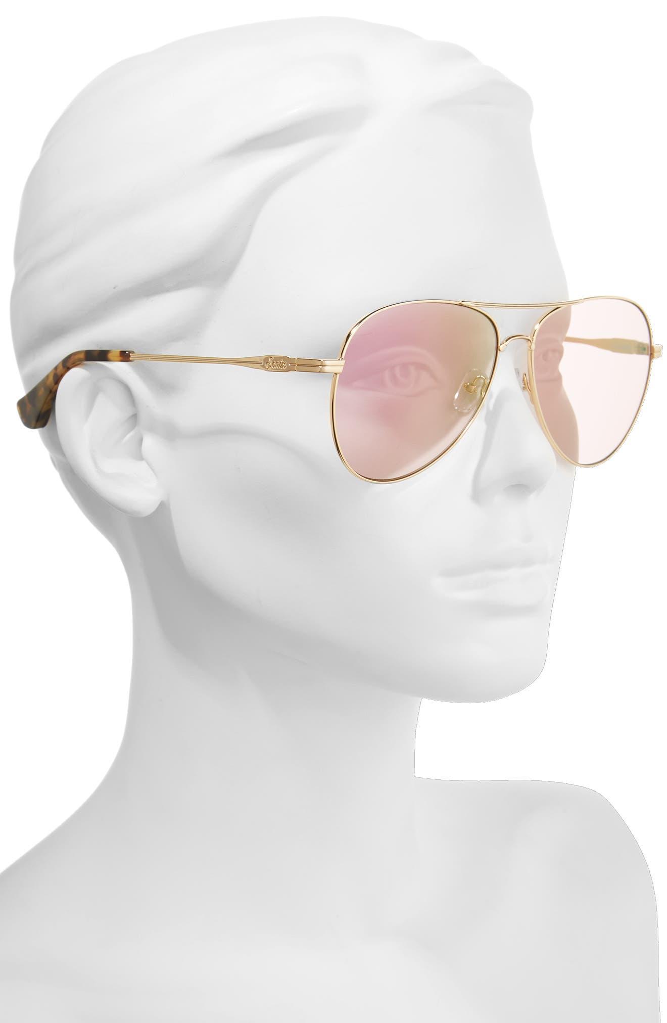 Alternate Image 2  - Sonix Lodi 61mm Mirrored Aviator Sunglasses