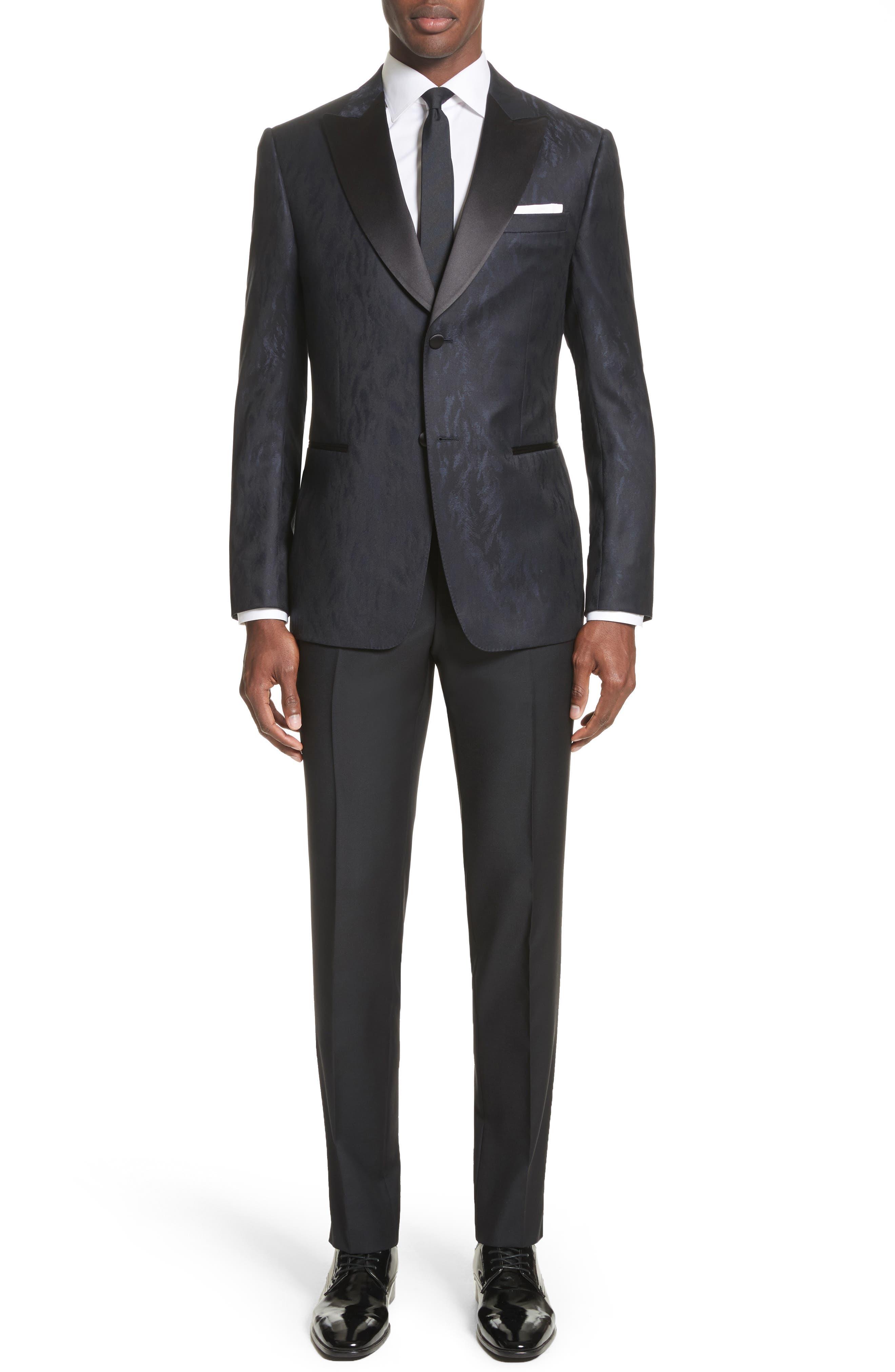 Slim Fit Wool Tuxedo,                         Main,                         color, Navy