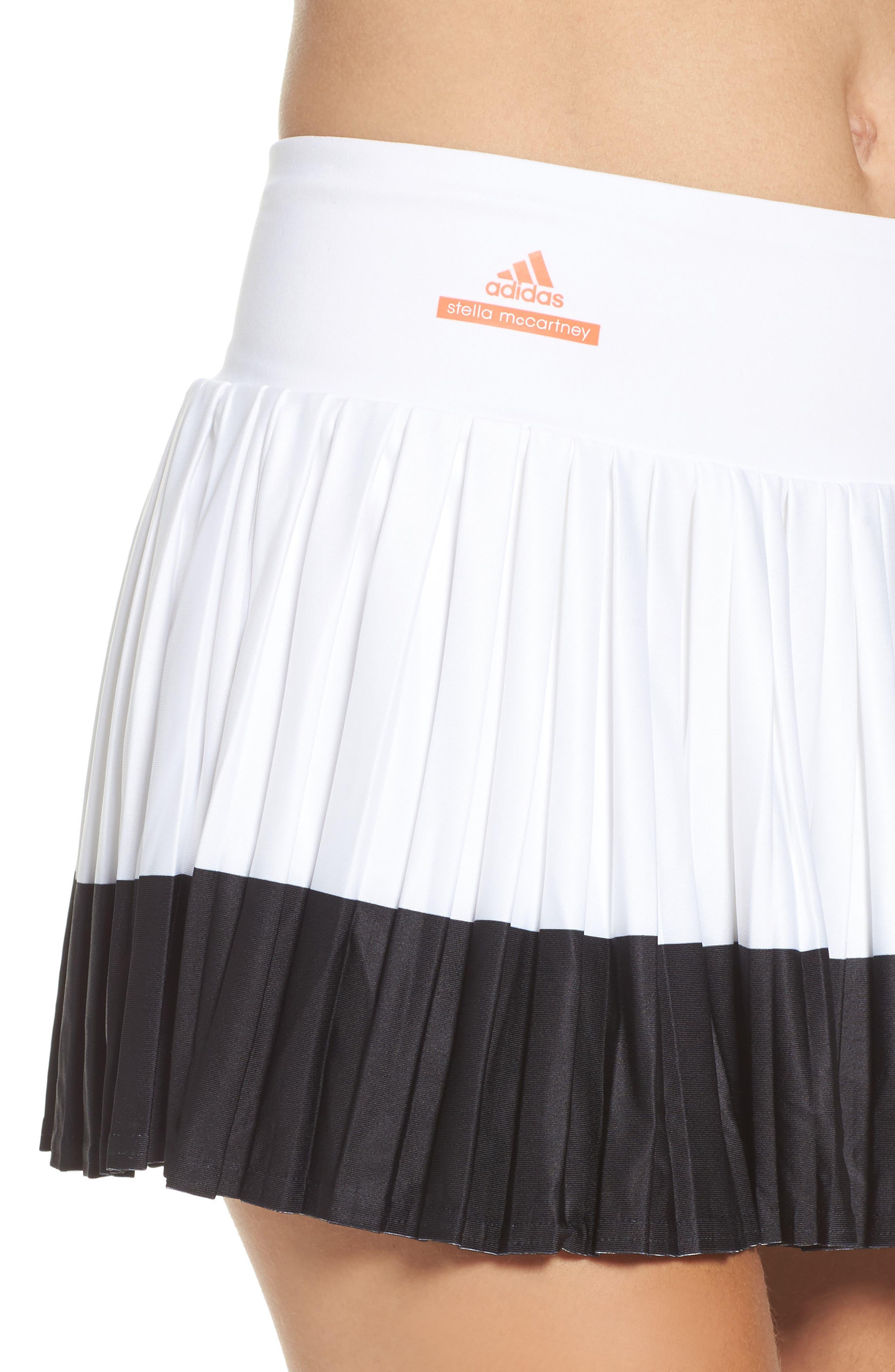 Barricade Skirt,                             Alternate thumbnail 4, color,                             White/ Black