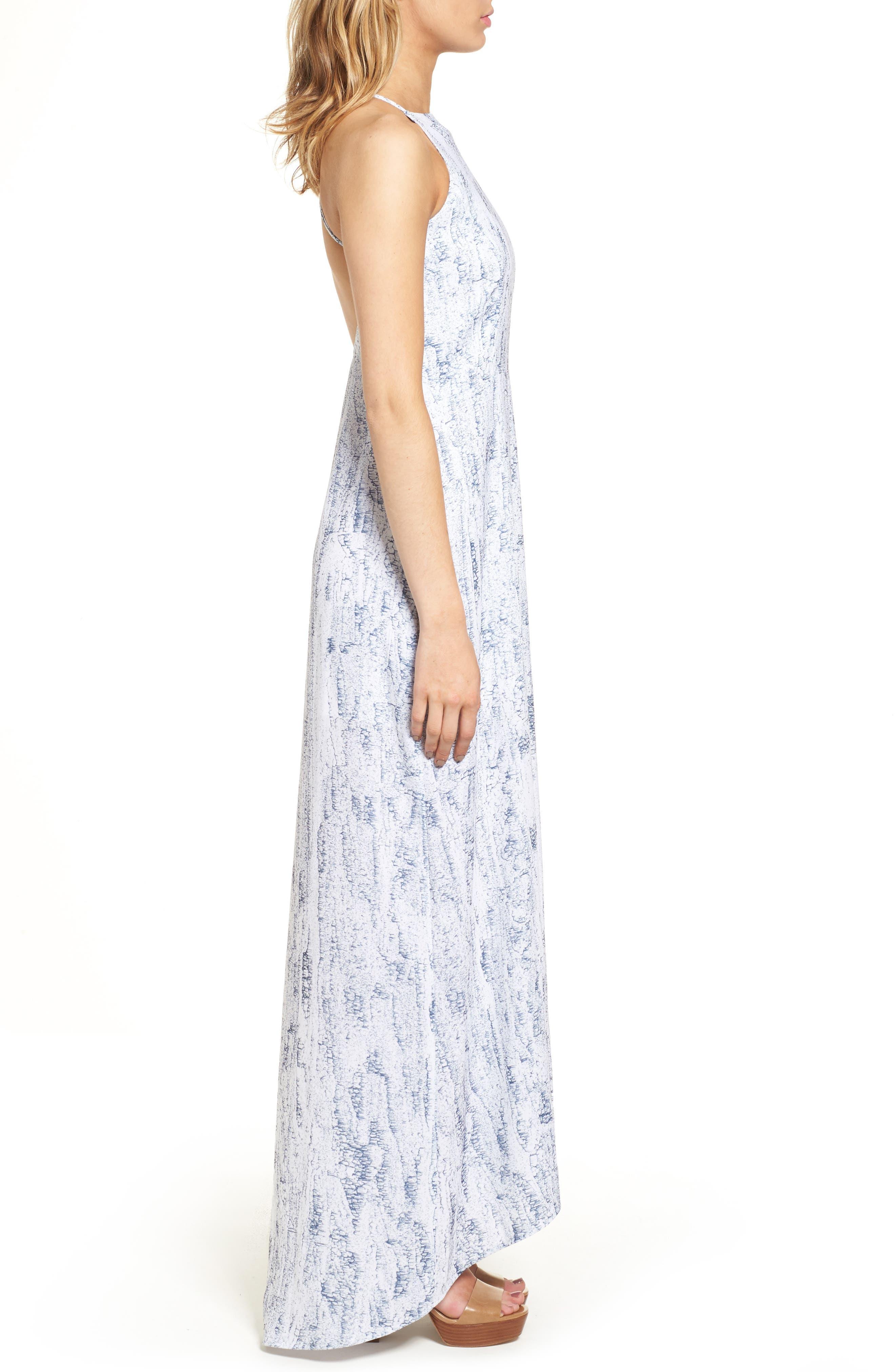 Halter Maxi Dress,                             Alternate thumbnail 3, color,                             Mulberry