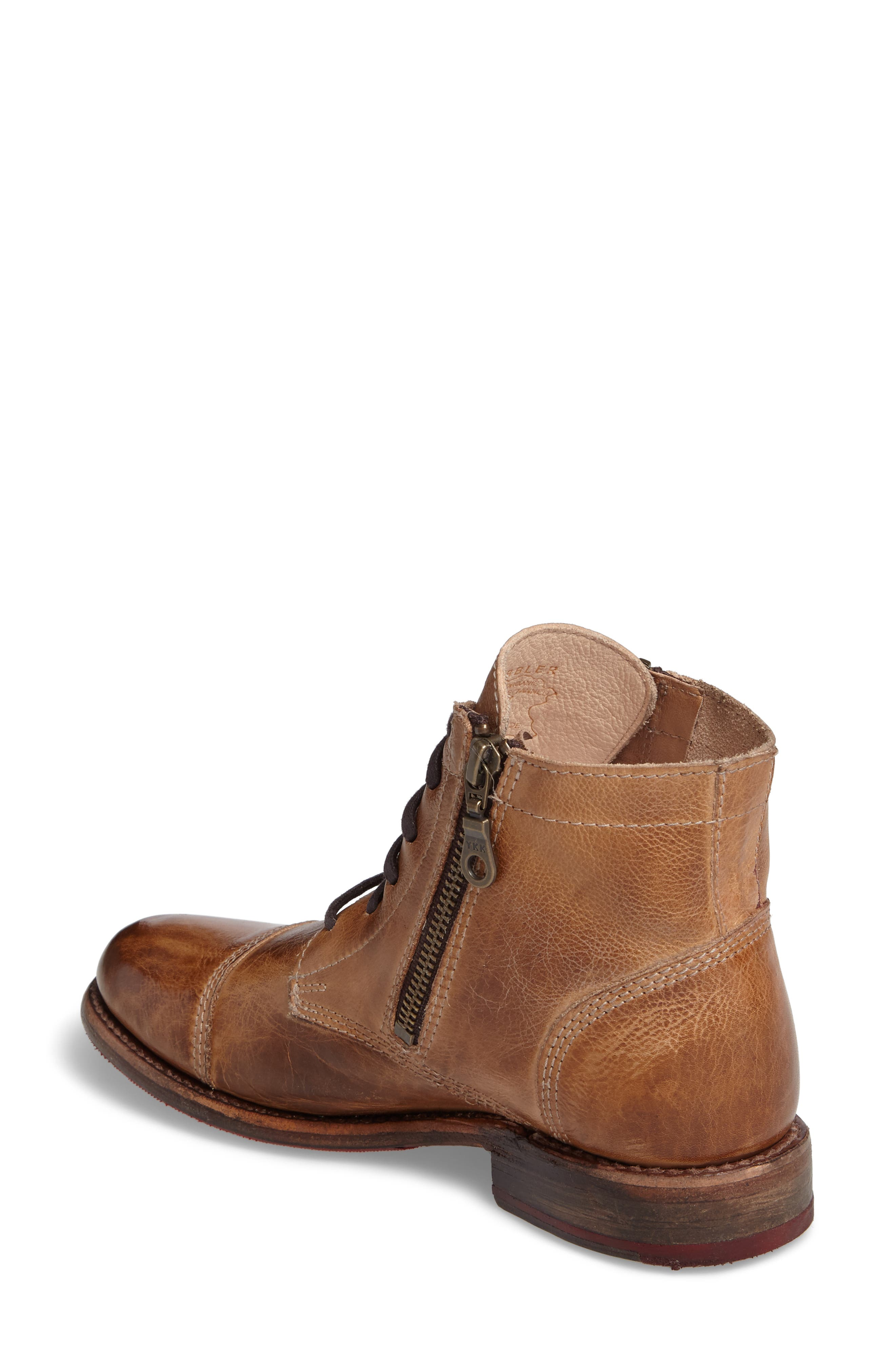 'Bonnie' Boot,                             Alternate thumbnail 2, color,                             Tan Rustic Leather