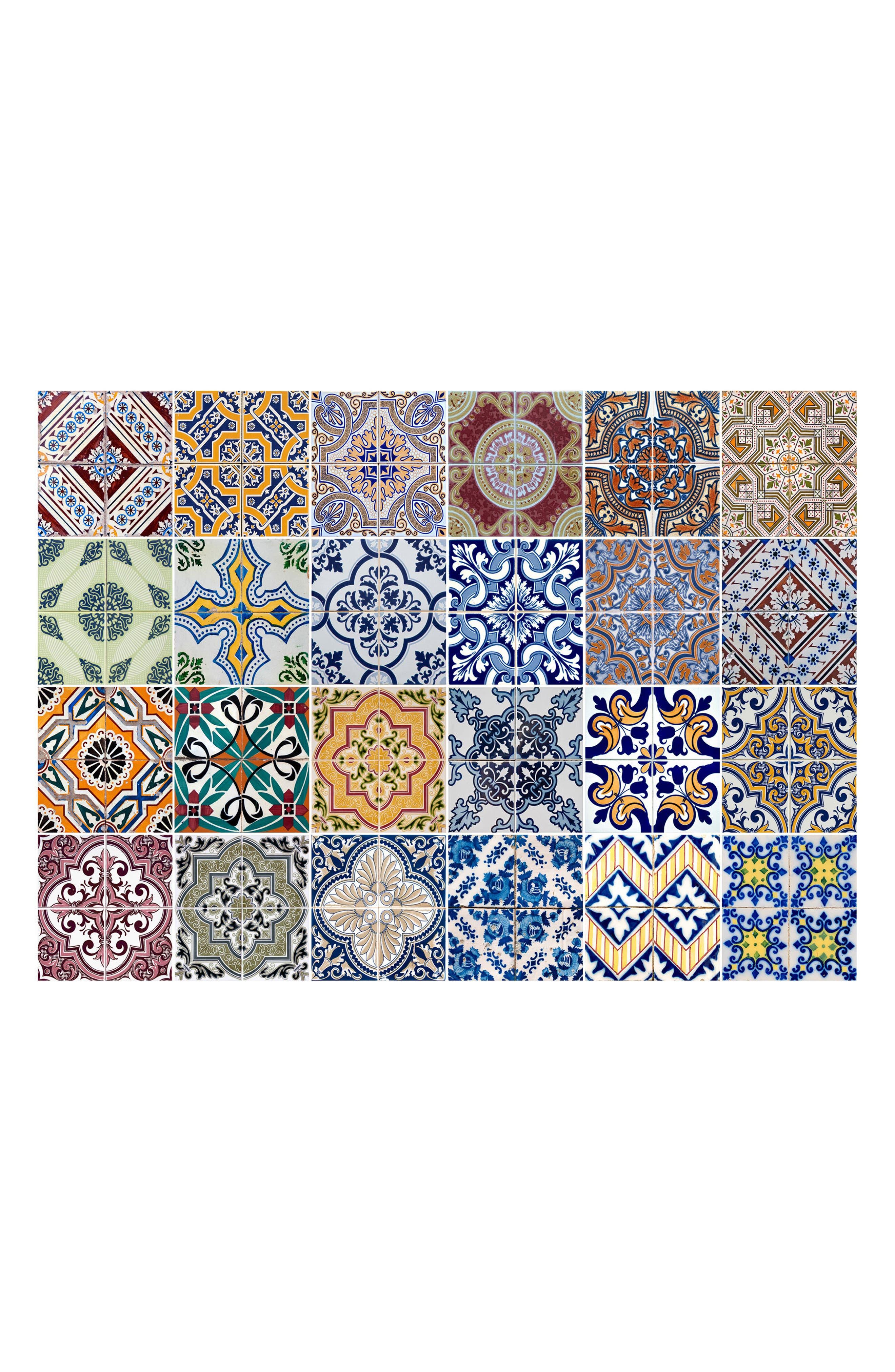 Alternate Image 1 Selected - Wallpops Azulejos Peel & Stick Vinyl Kitchen Panel