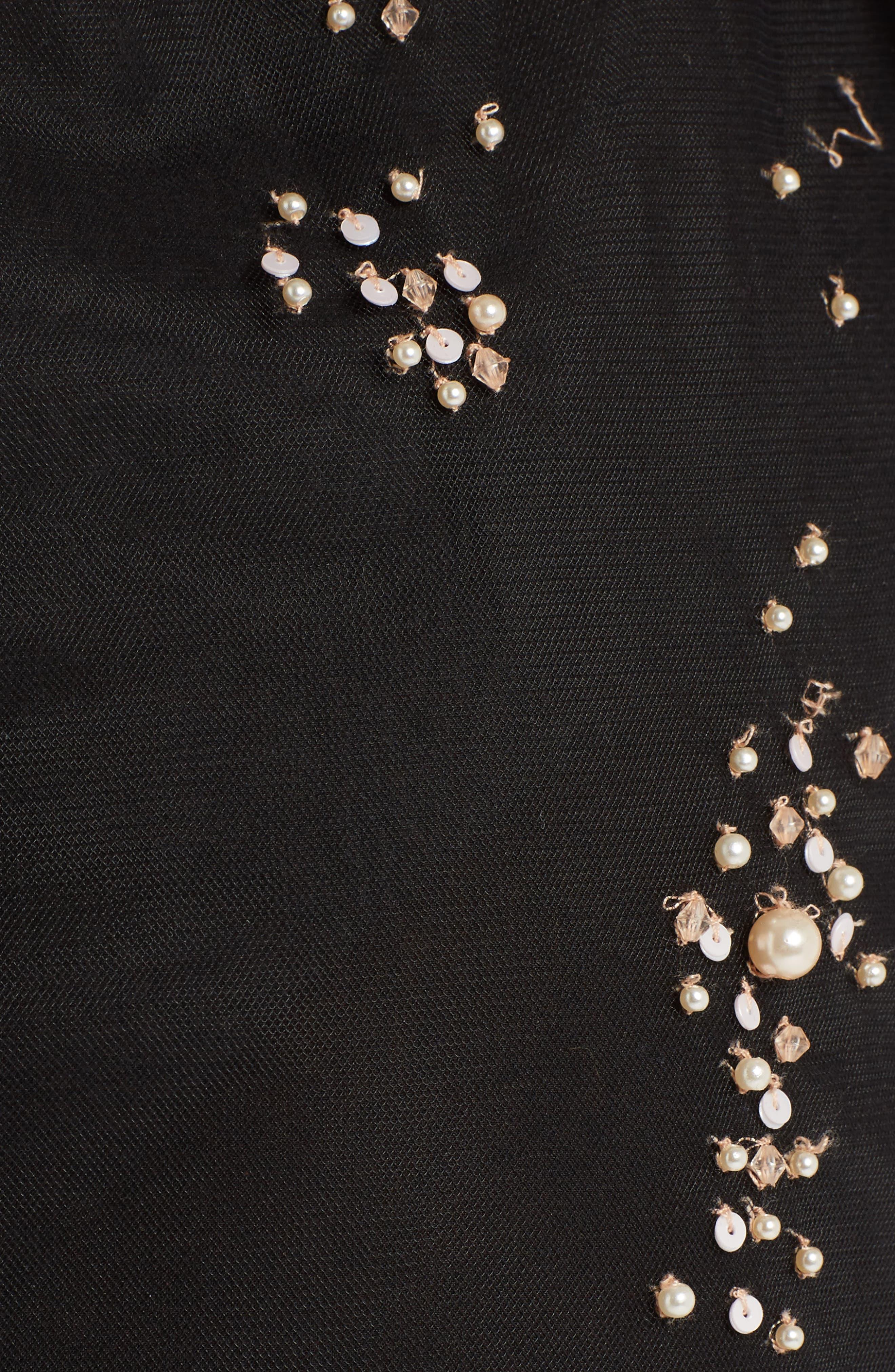 Alternate Image 5  - MSGM Imitation Pearl Embellished Tulle Dress