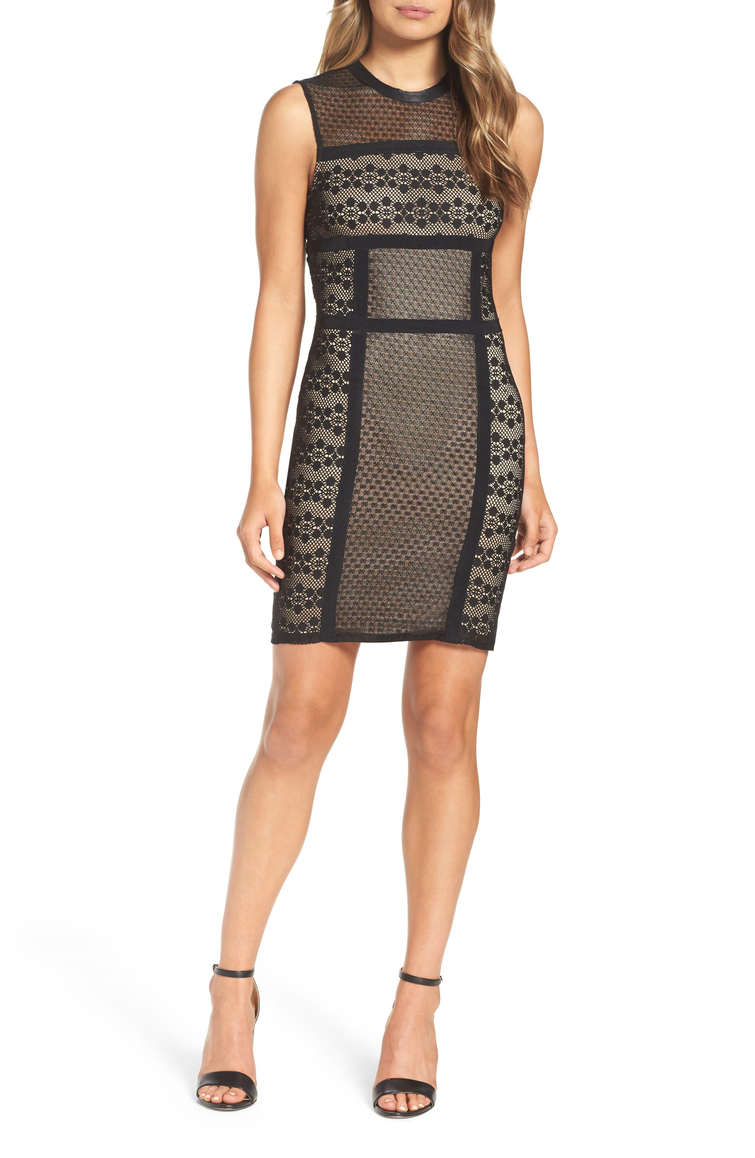 Hola Mamacita Body-Con Dress,                             Alternate thumbnail 4, color,                             Black