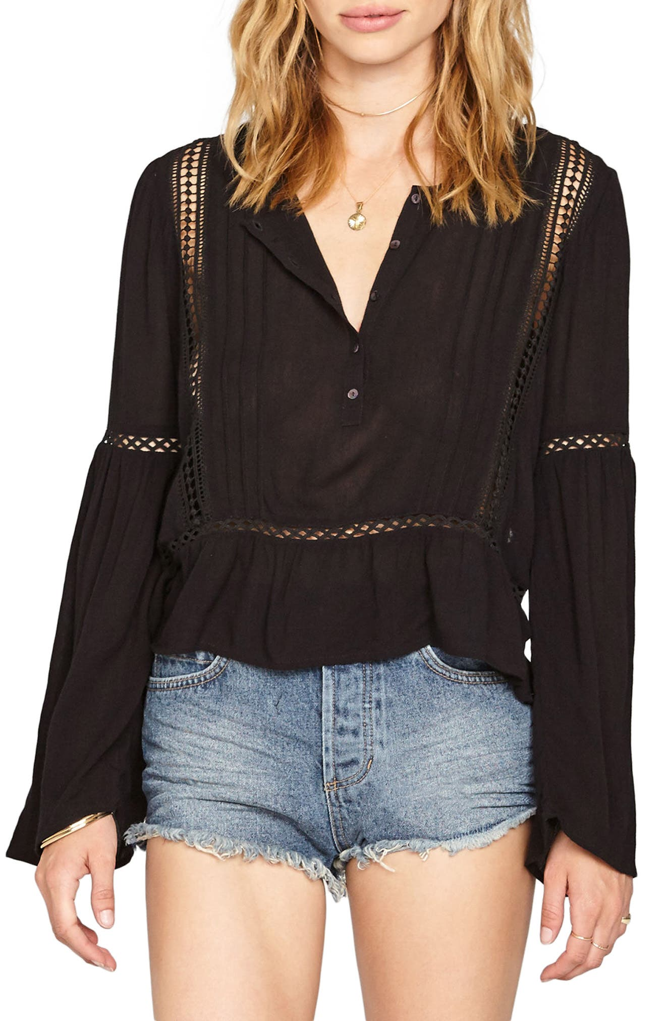 Alternate Image 1 Selected - Amuse Society Zani Woven Top