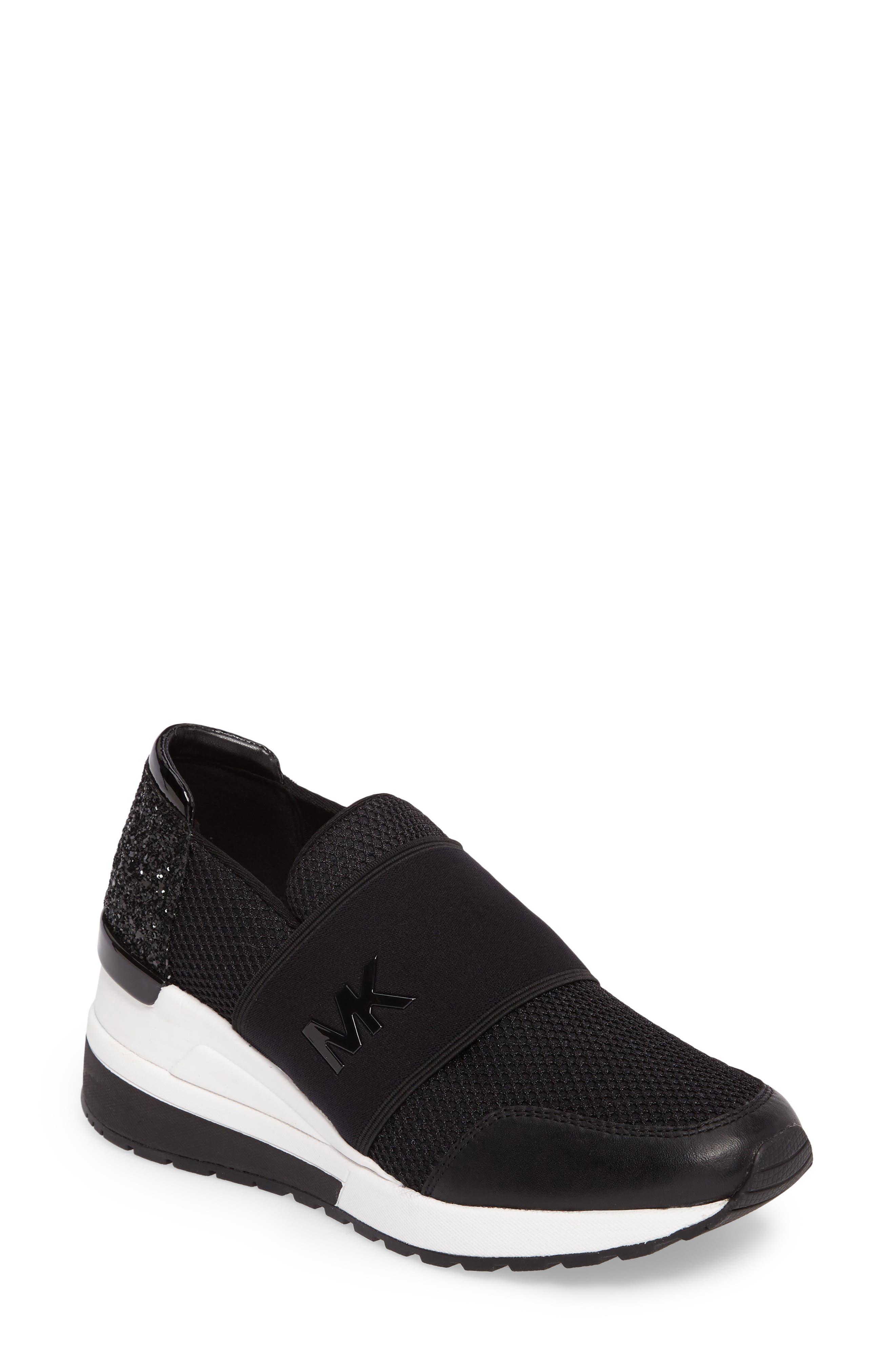 Alternate Image 1 Selected - MICHAEL Michael Kors Felix Slip-On Glitter Sneaker (Women)