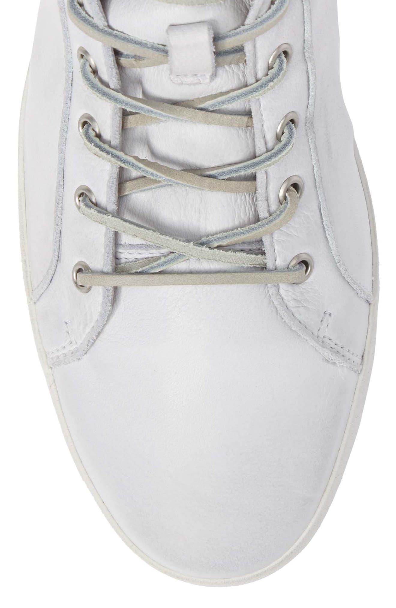 'JM03' Sneaker,                             Alternate thumbnail 5, color,                             White Leather