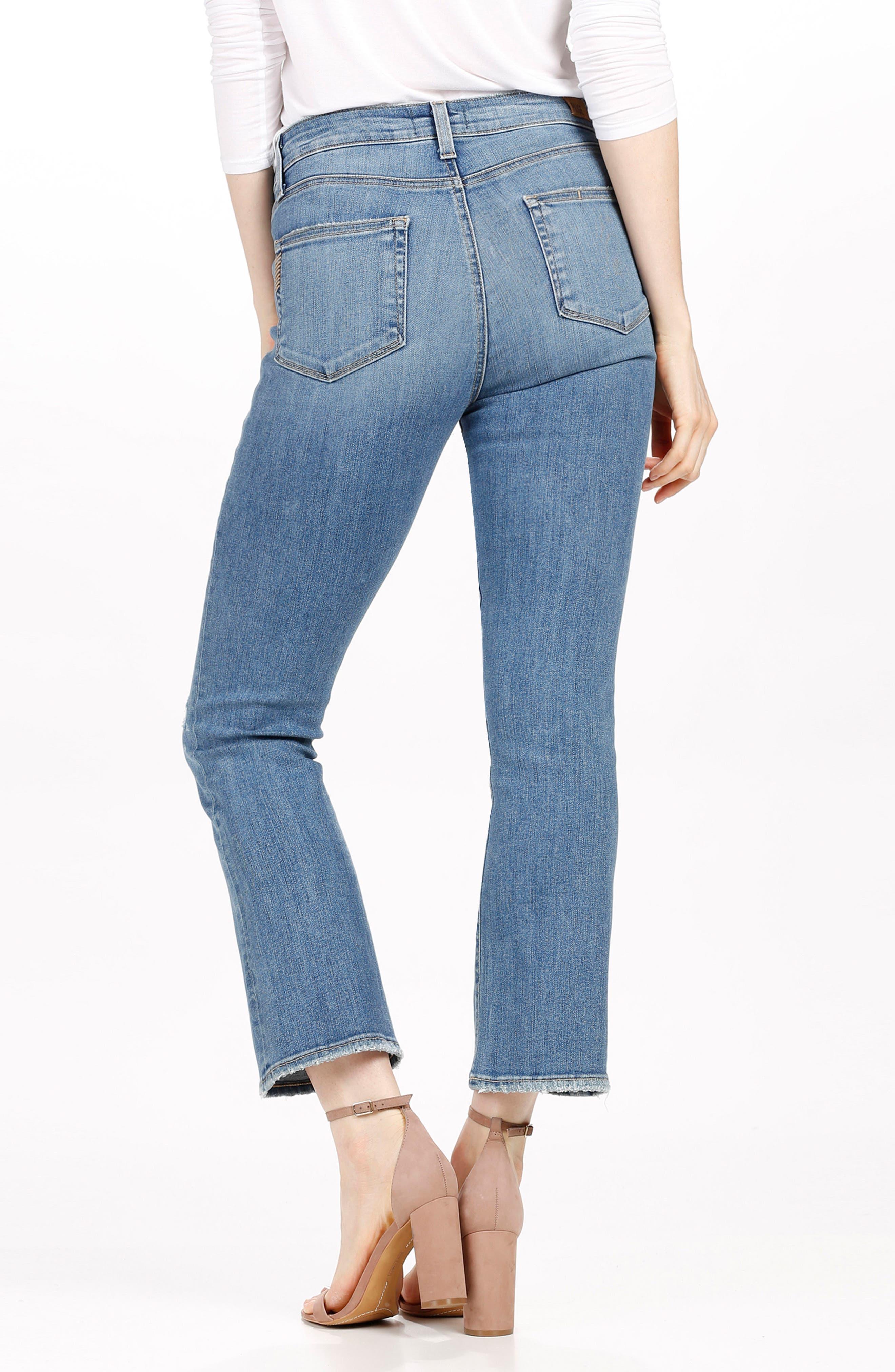 Alternate Image 2  - PAIGE Transcend - Colette High Waist Crop Flare Jeans (Sienna)