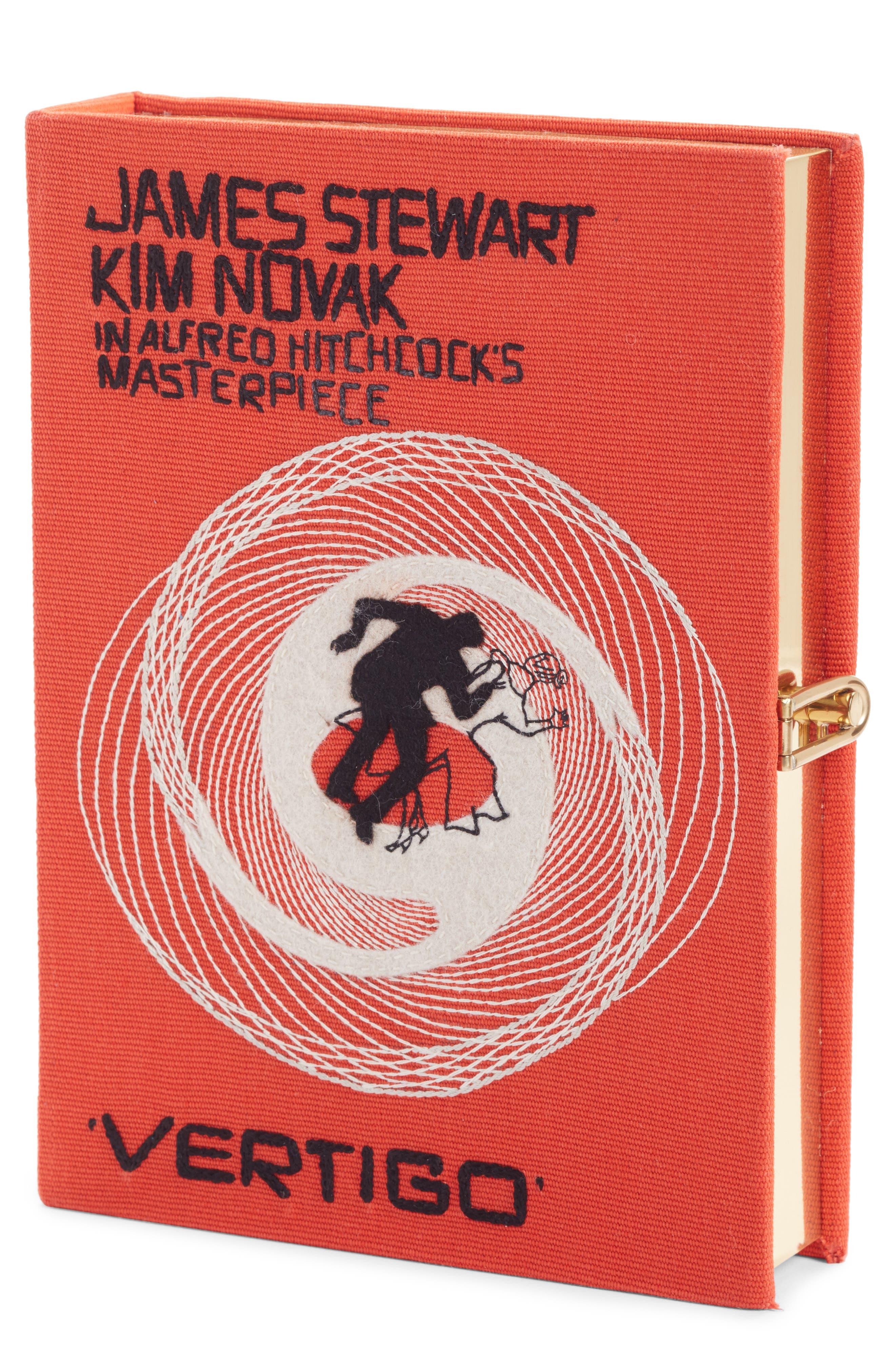 Hitchcock - 'Vertigo' Book Clutch,                             Main thumbnail 1, color,                             Orange