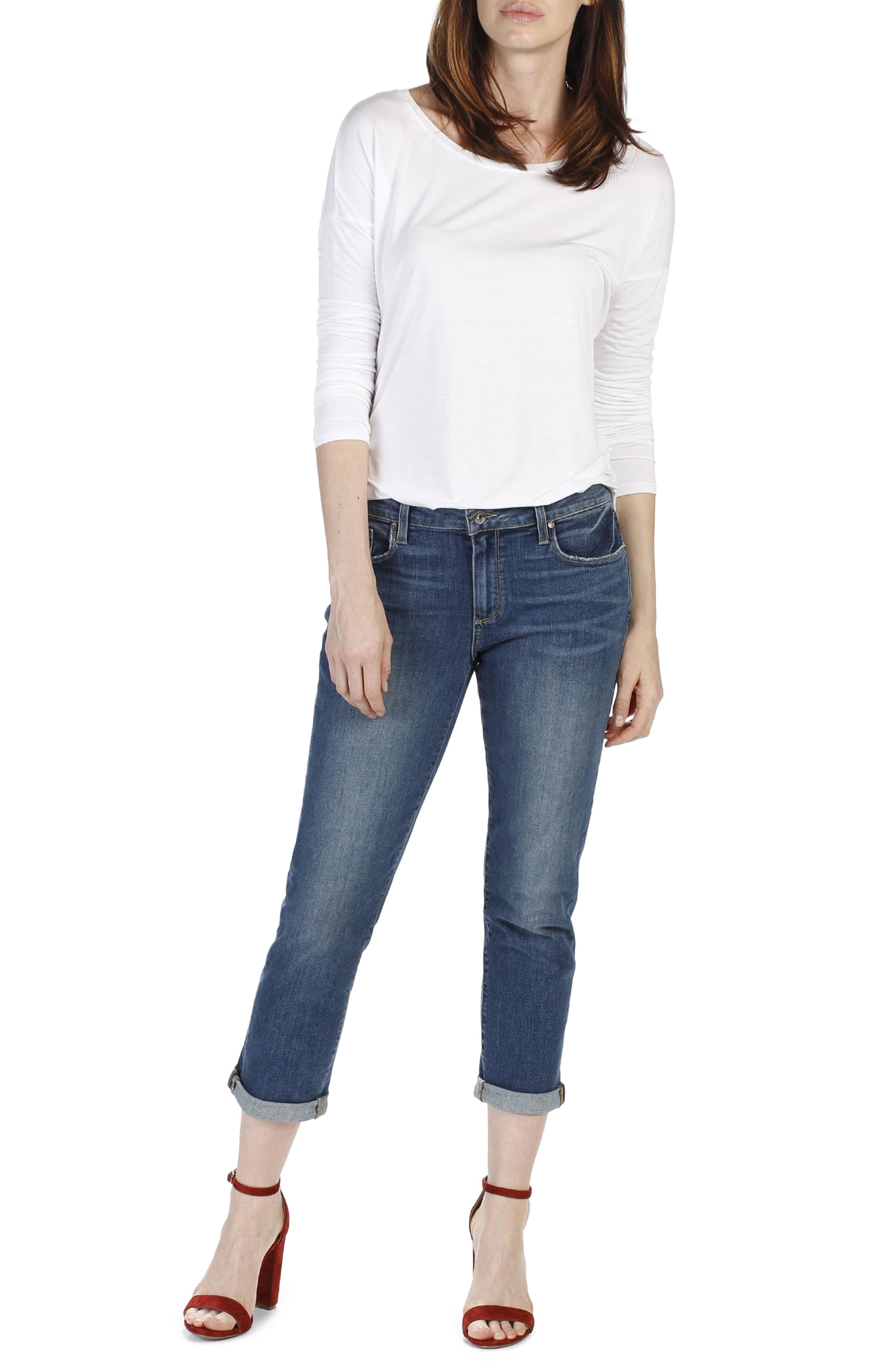 Alternate Image 2  - PAIGE Brigitte Crop Boyfriend Jeans