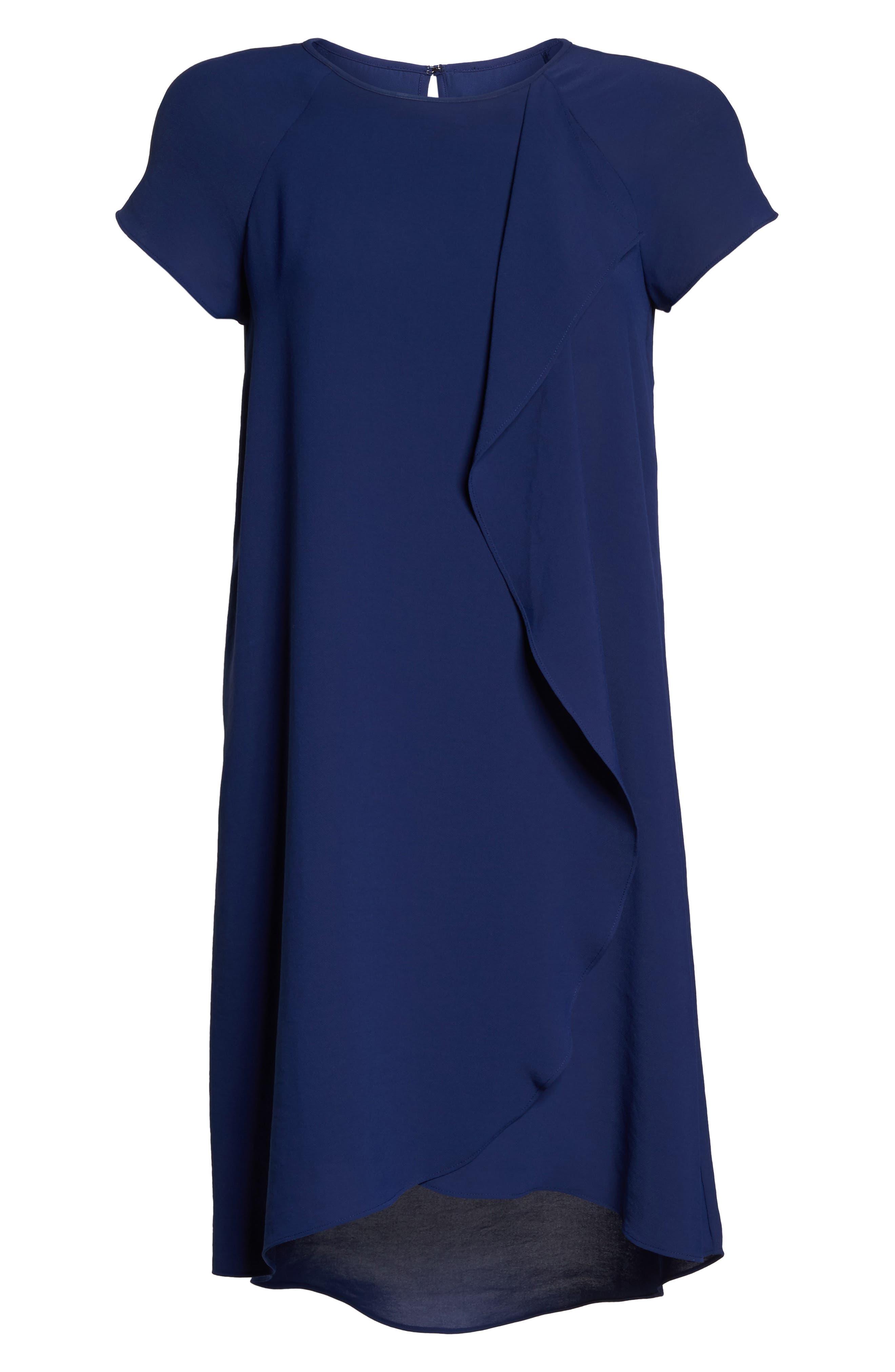 Alternate Image 6  - Adrianna Papell Crepe Shift Dress
