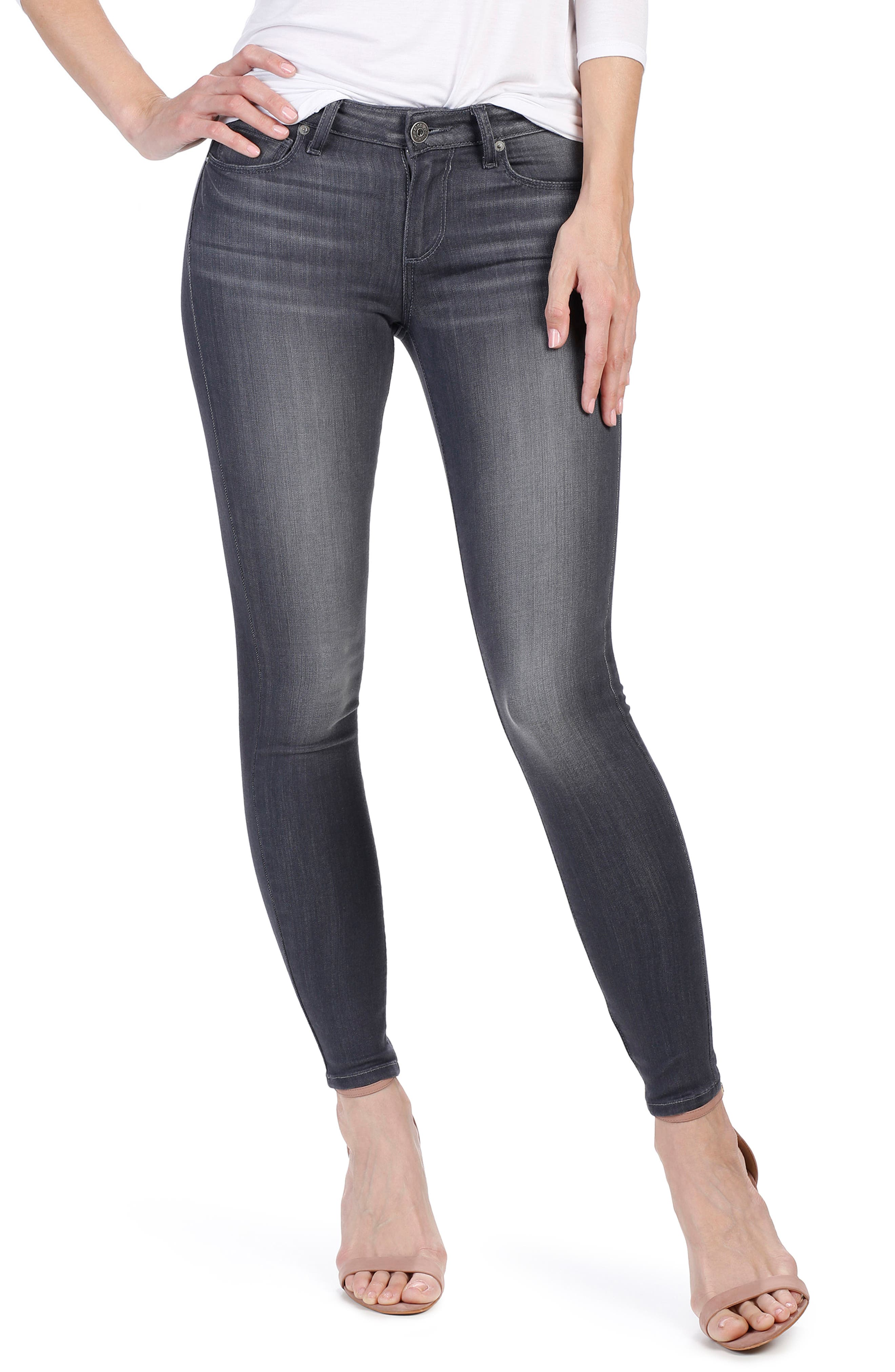 Alternate Image 1 Selected - PAIGE Transcend - Verdugo Ankle Skinny Jeans (Summit Grey)