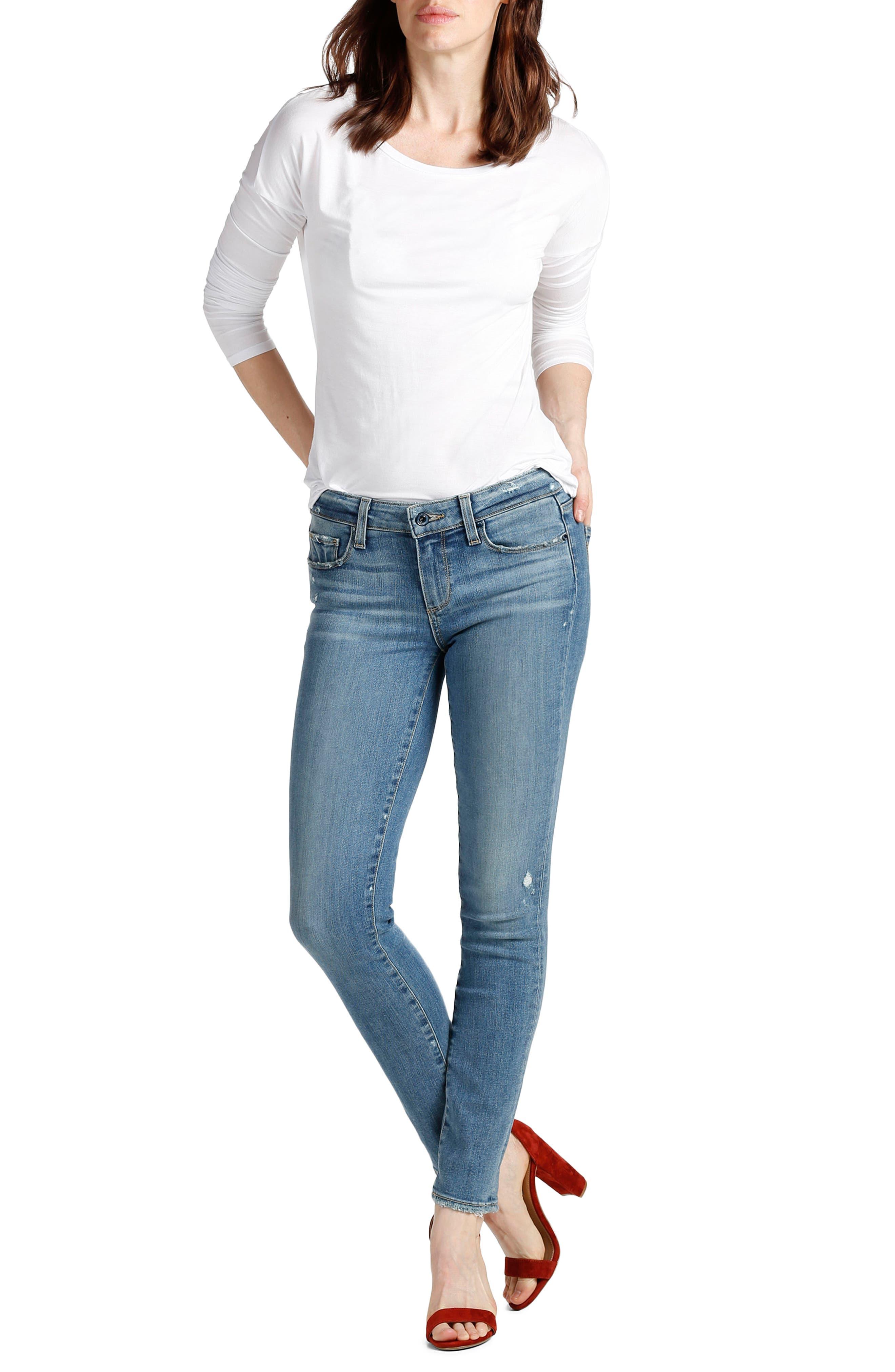 Transcend - Skyline Ankle Peg Skinny Jeans,                             Alternate thumbnail 2, color,                             Sienna