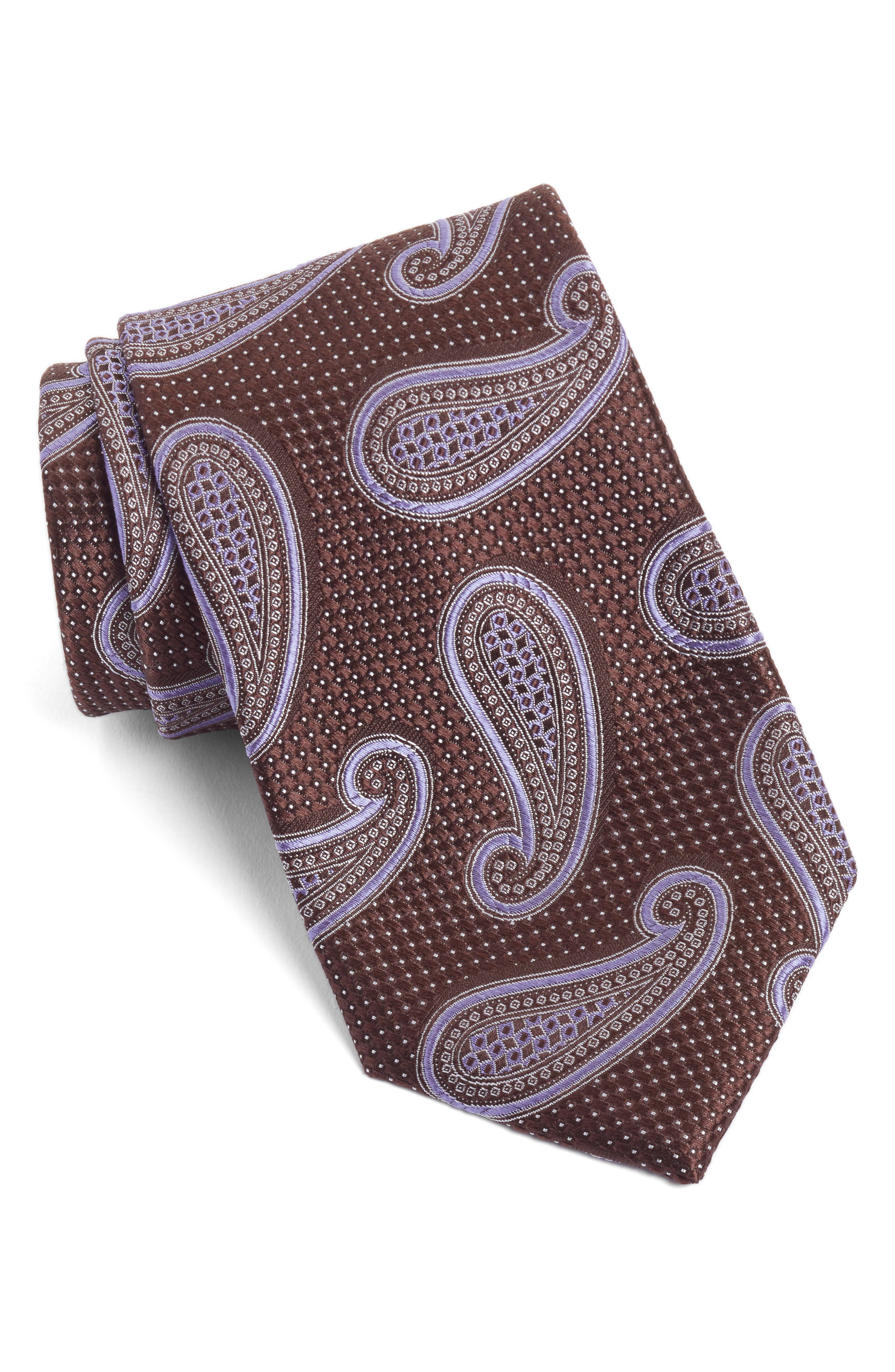 Nordstrom Men's Shop Textured Paisley Silk Tie